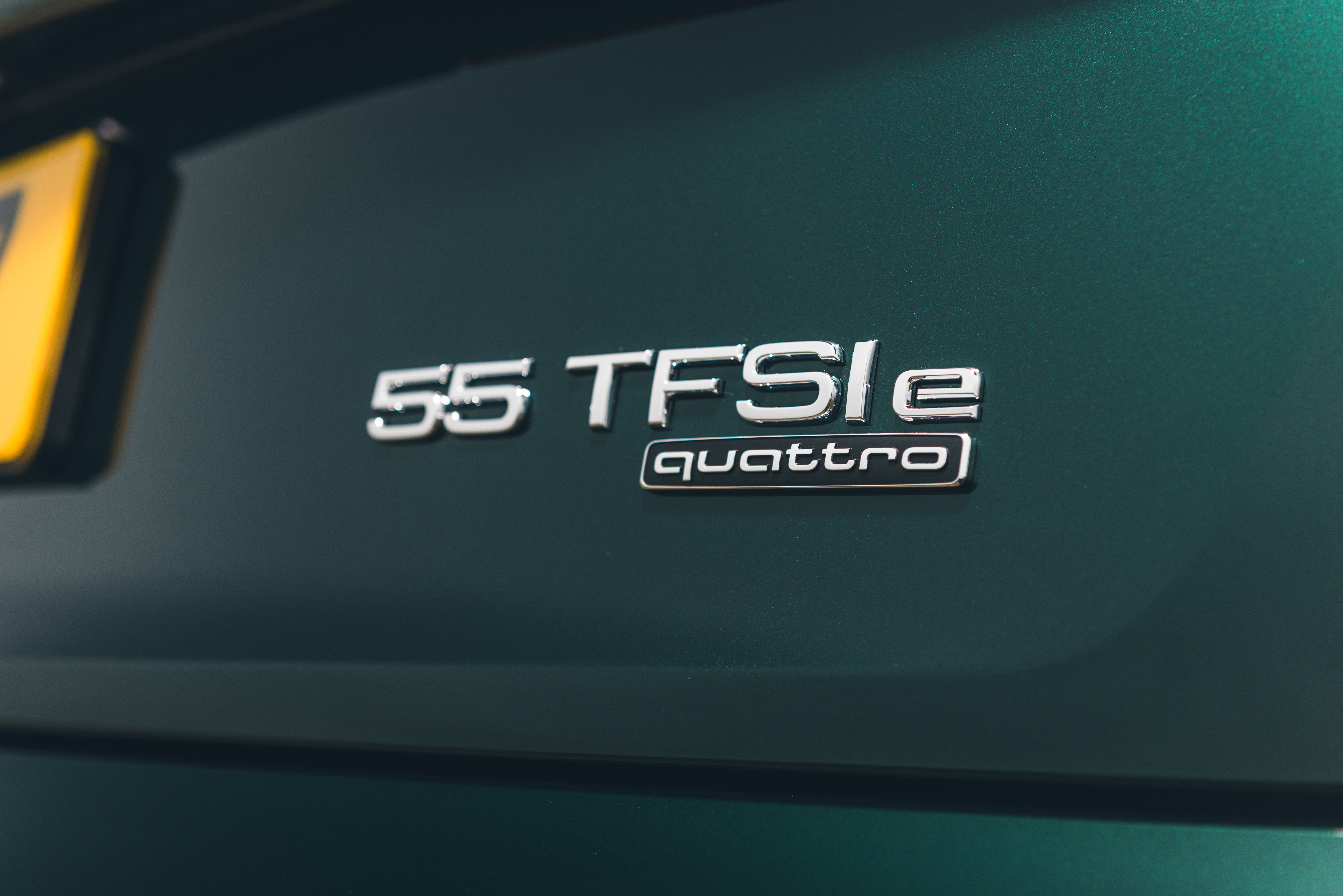 The 'e' lettering denotes the hybrid powertrain