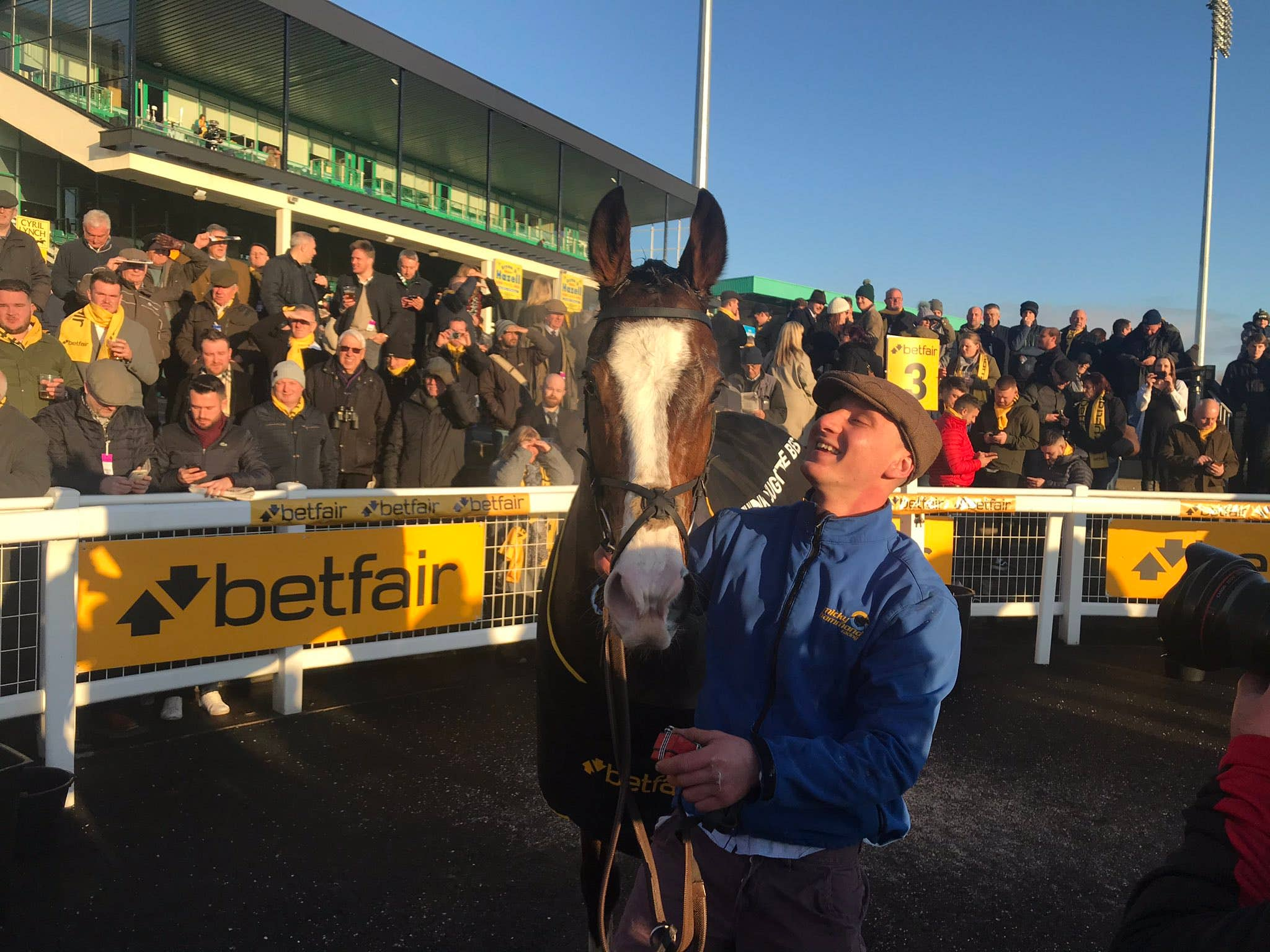 Cornerstone Lad caused a huge upset in beating Buveur D'Air (Ashley Iveson/PA)