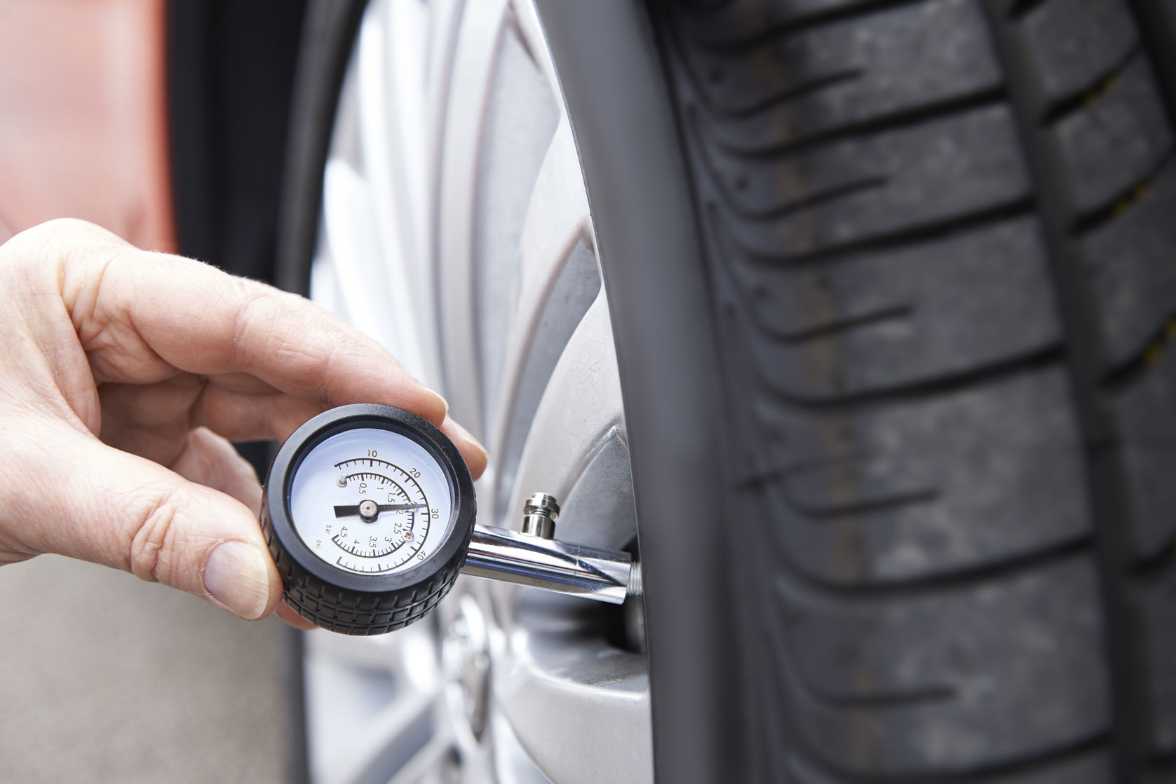 Checking tyre pressures is essentially when the weather turns cold