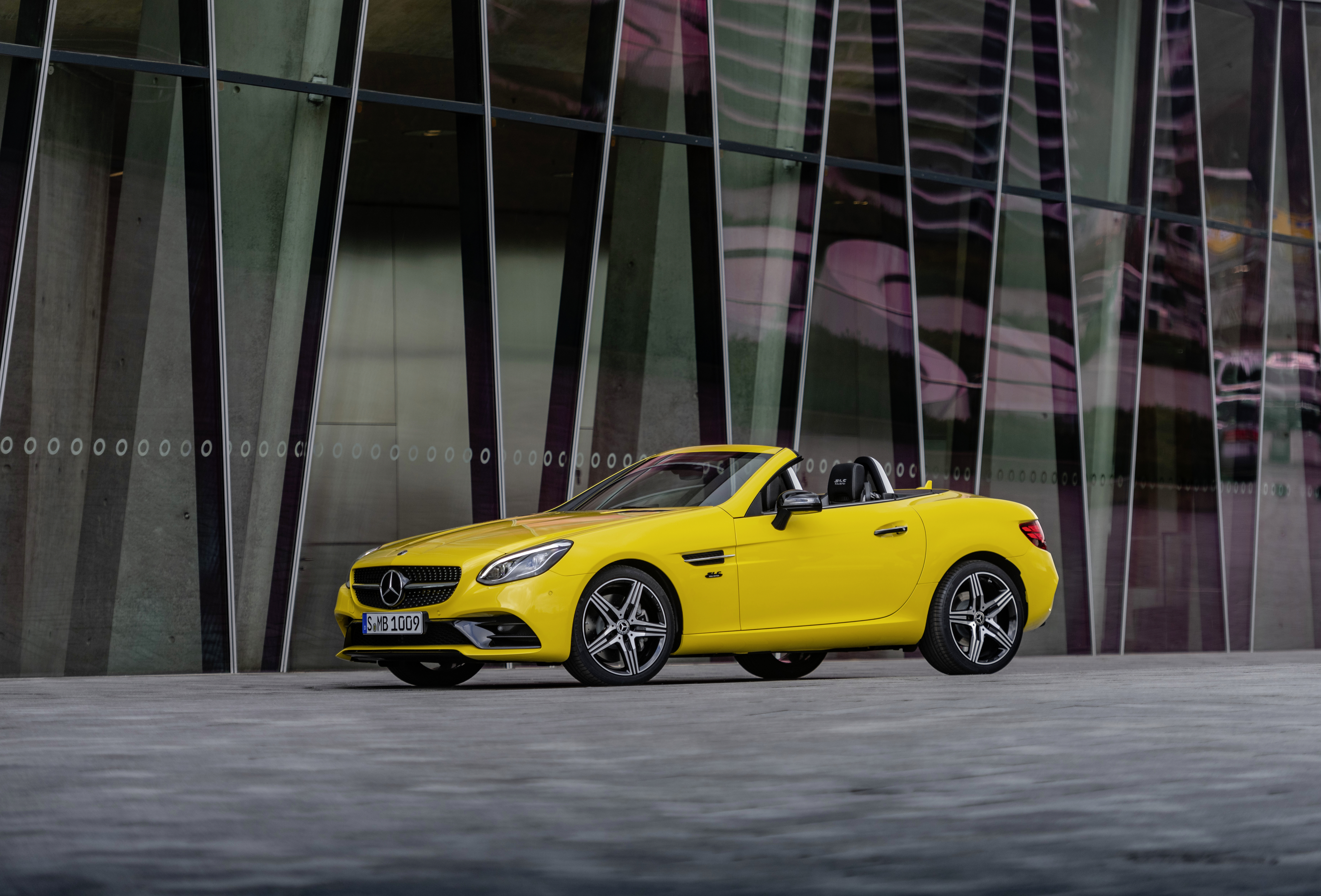 The SLC is available with one of three powertrain options