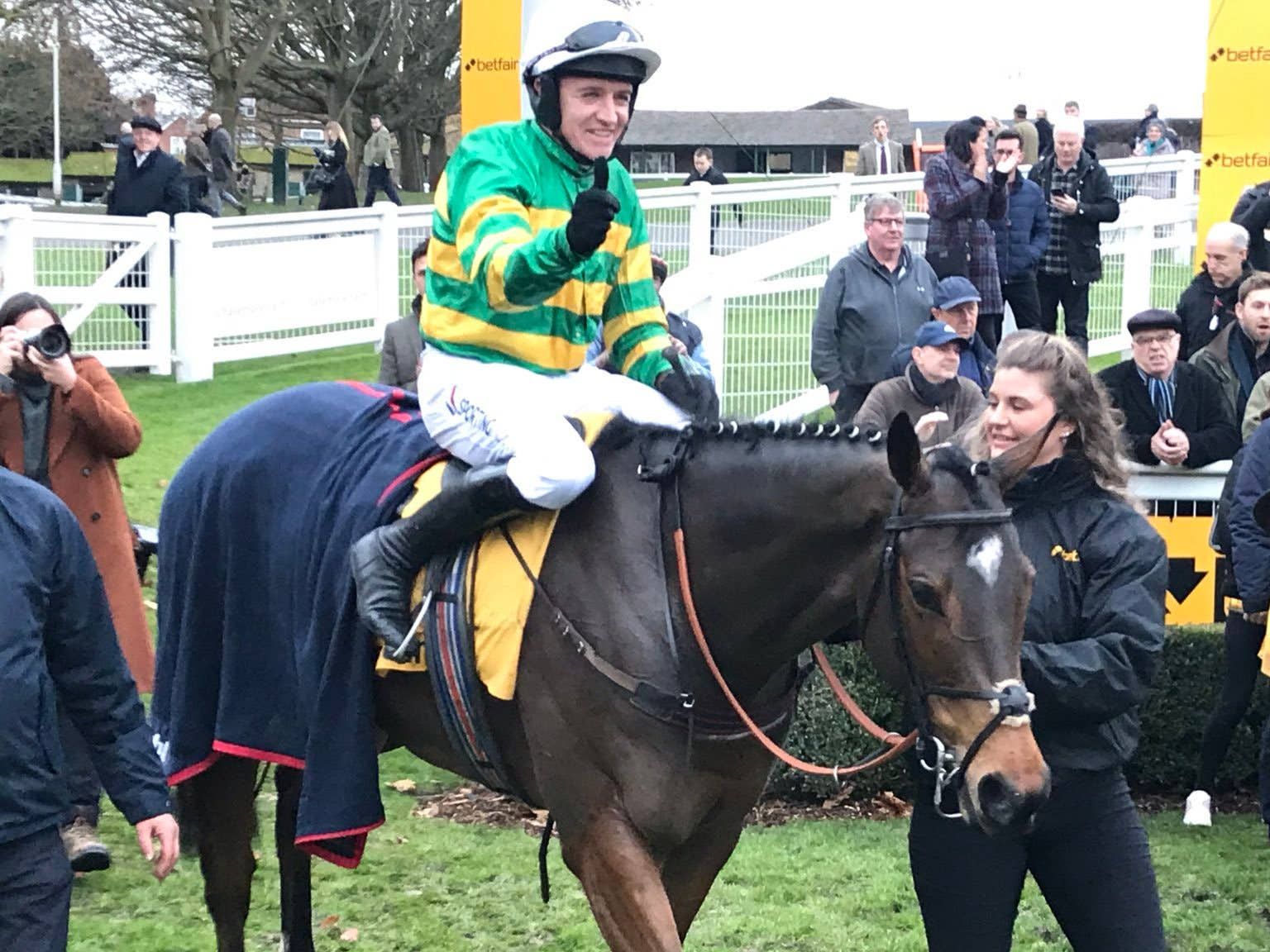 Barry Geraghty was thrilled with the effort of Defi Du Seuil (Graham Clark/PA)