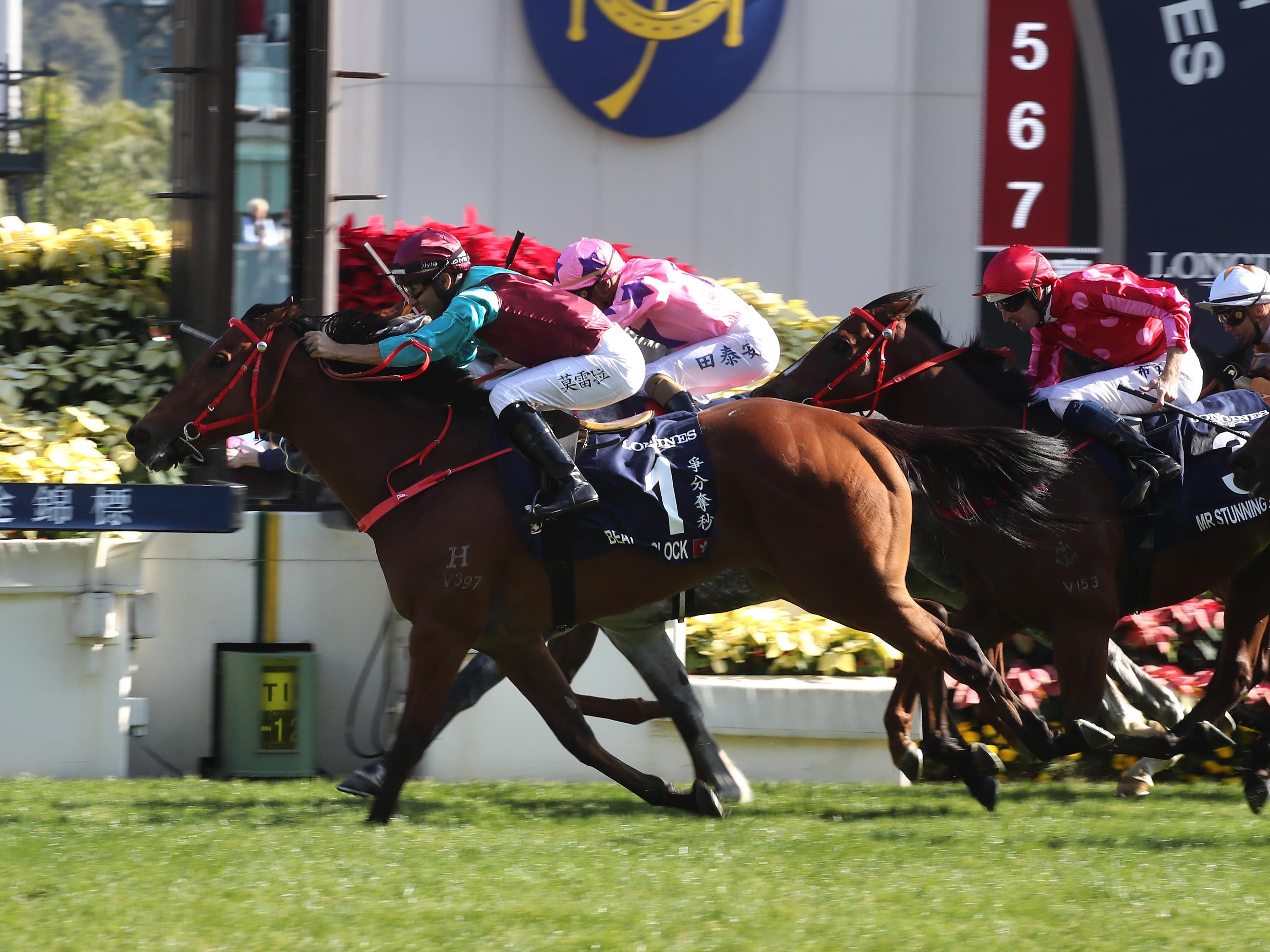 Beat The Clock rattled home in the Hong Kong Sprint (Hong Kong Jockey Club)