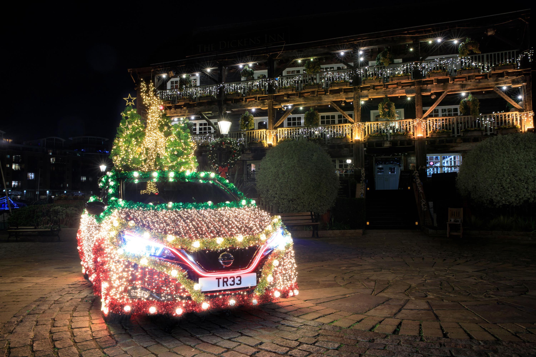 The lights showcase the power of regenerative energy