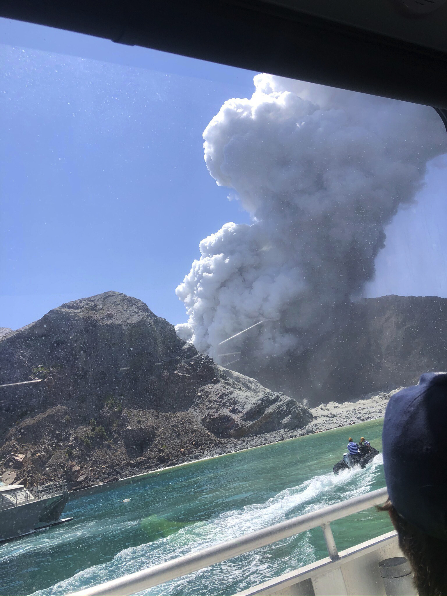 A volcanic eruption on White Island, New Zealand