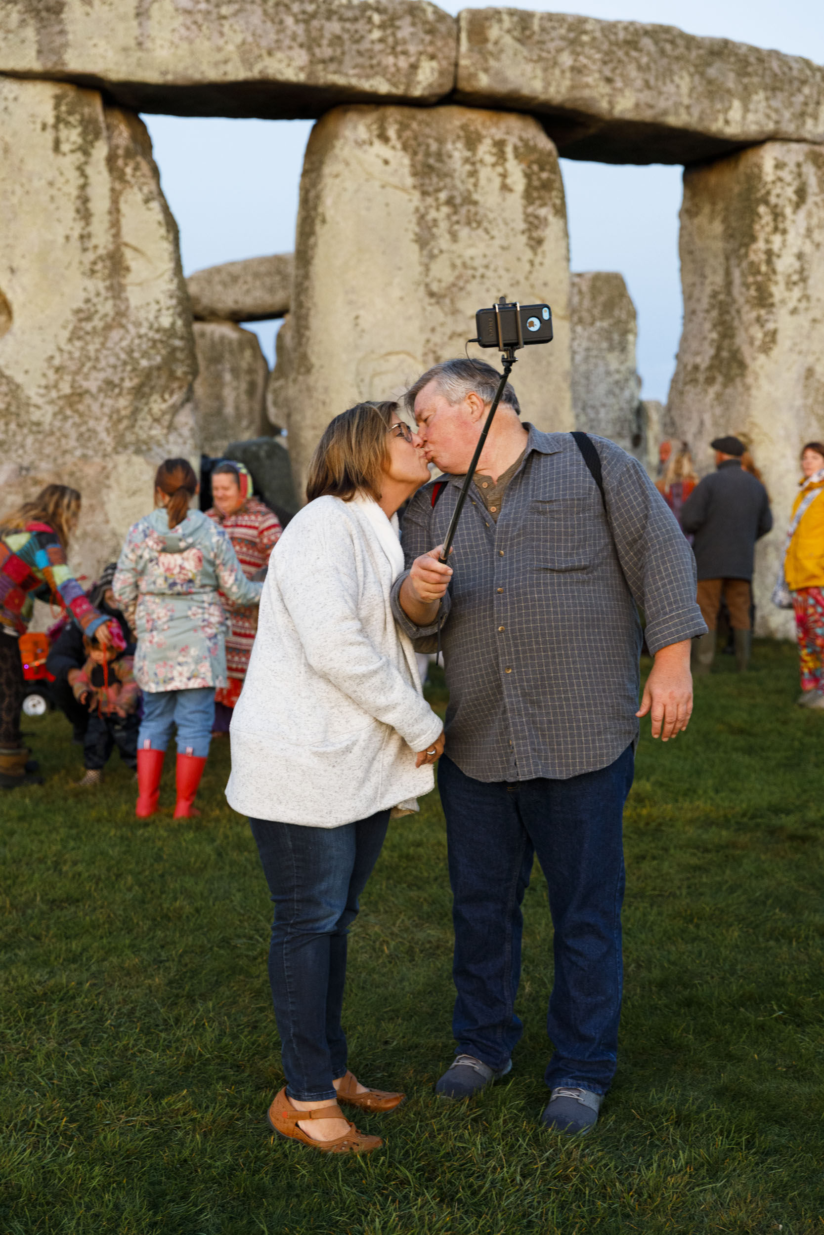 Martin Parr took a photograph of a couple kissing while taking a selfie