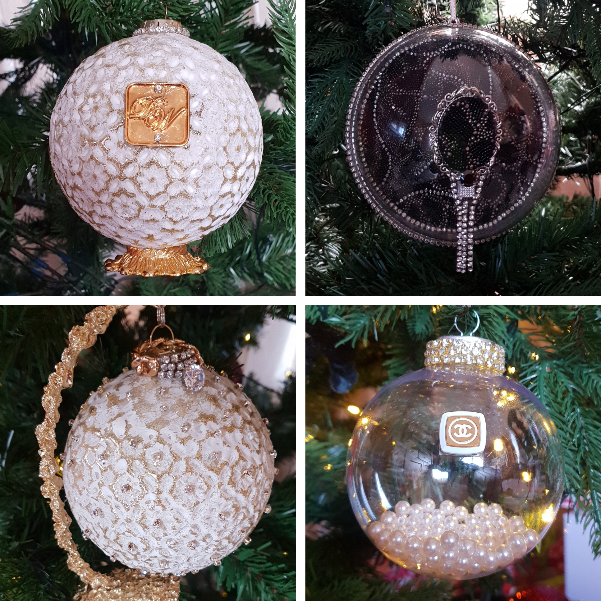 Baubles collage