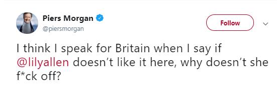 Piers Morgan tweet