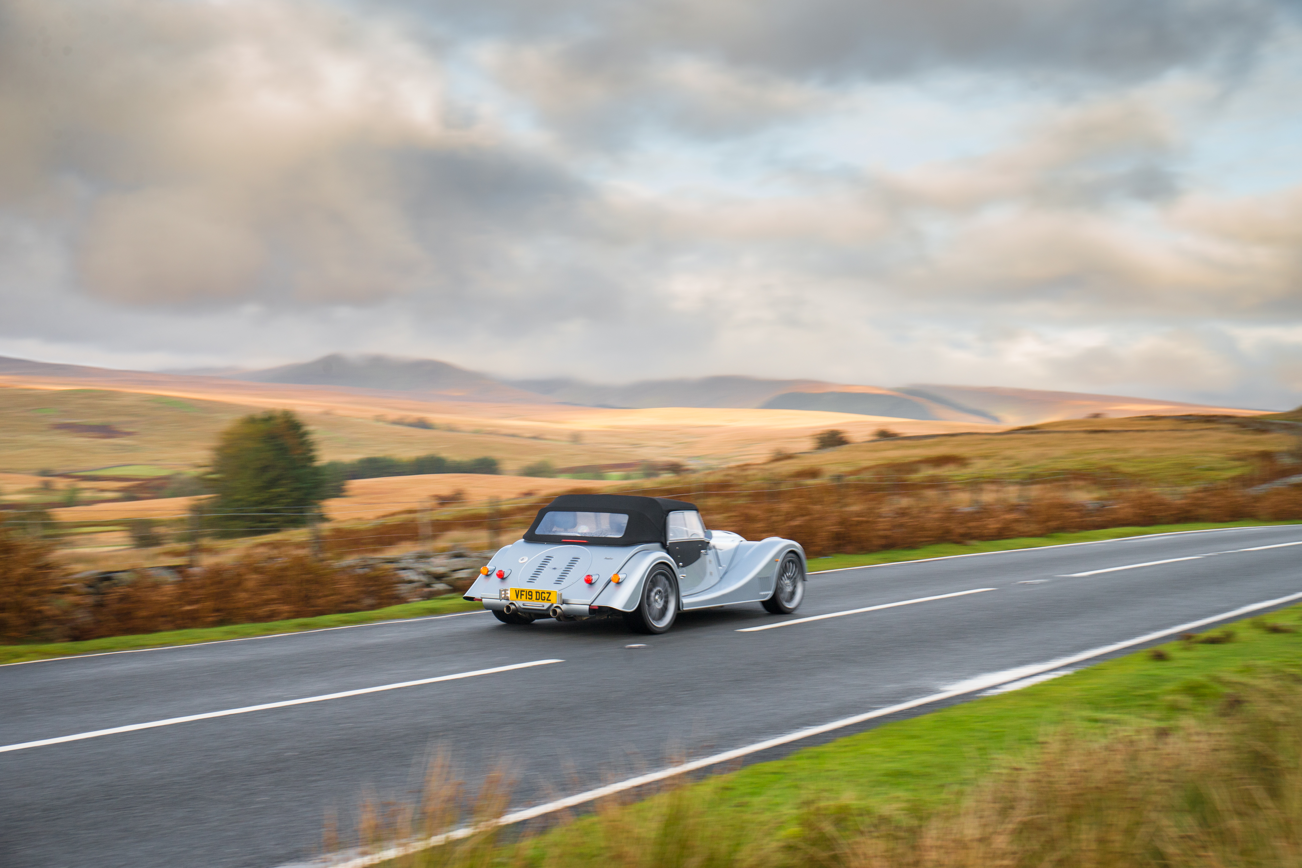 The Plus Six is most at home on British b-roads