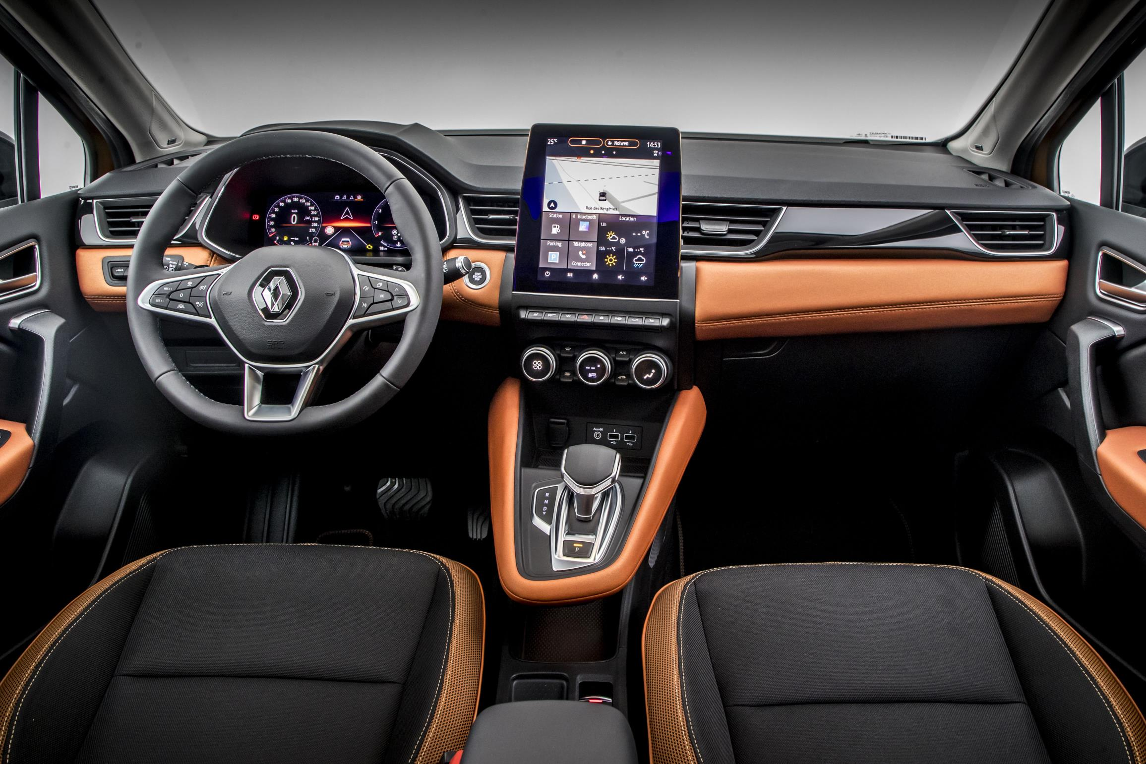 Top-spec cars get a portrait screen in the centre of the cabin