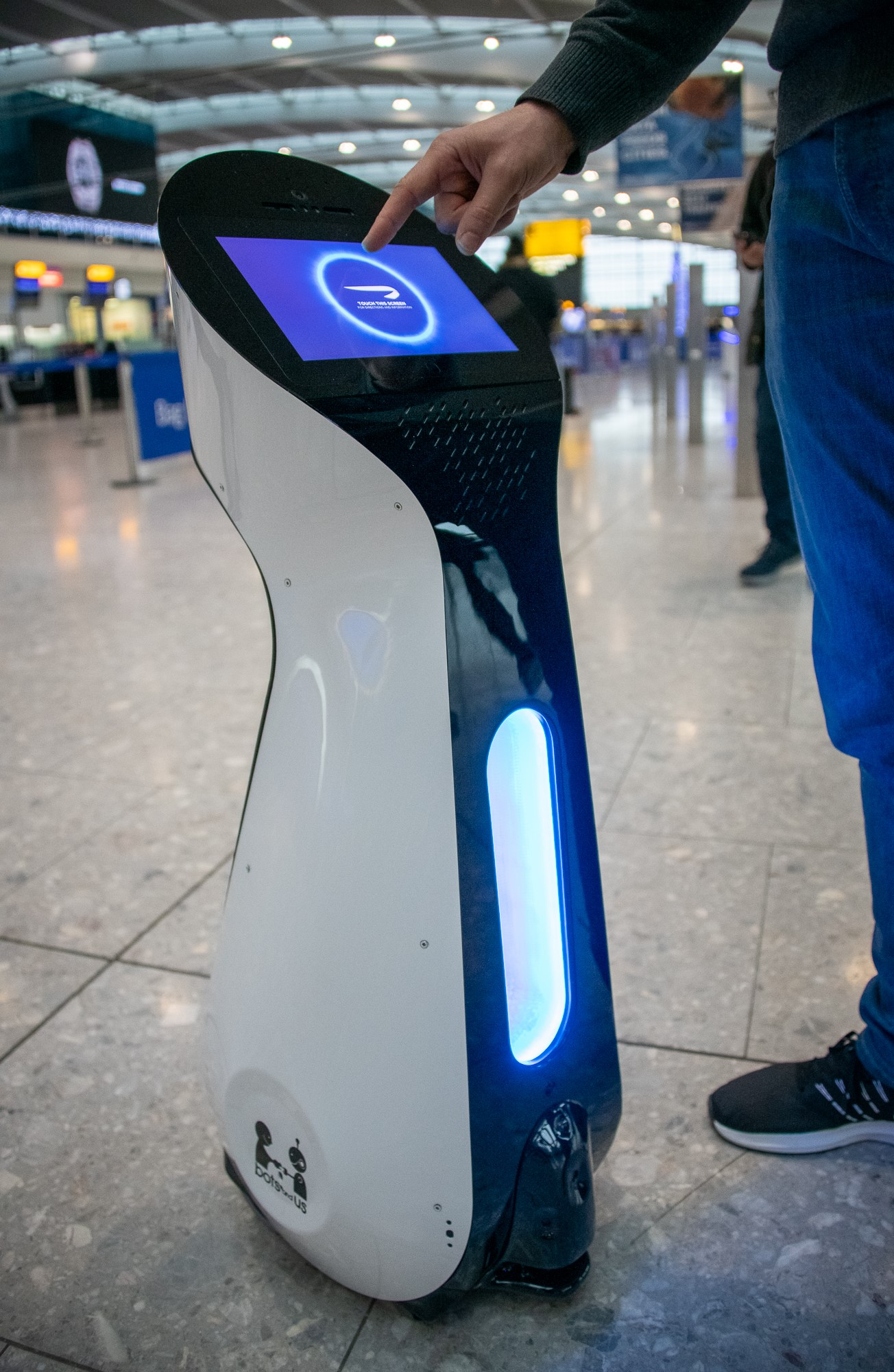 The robots will escort passengers to various locations in Terminal 5 (British Airways/PA)