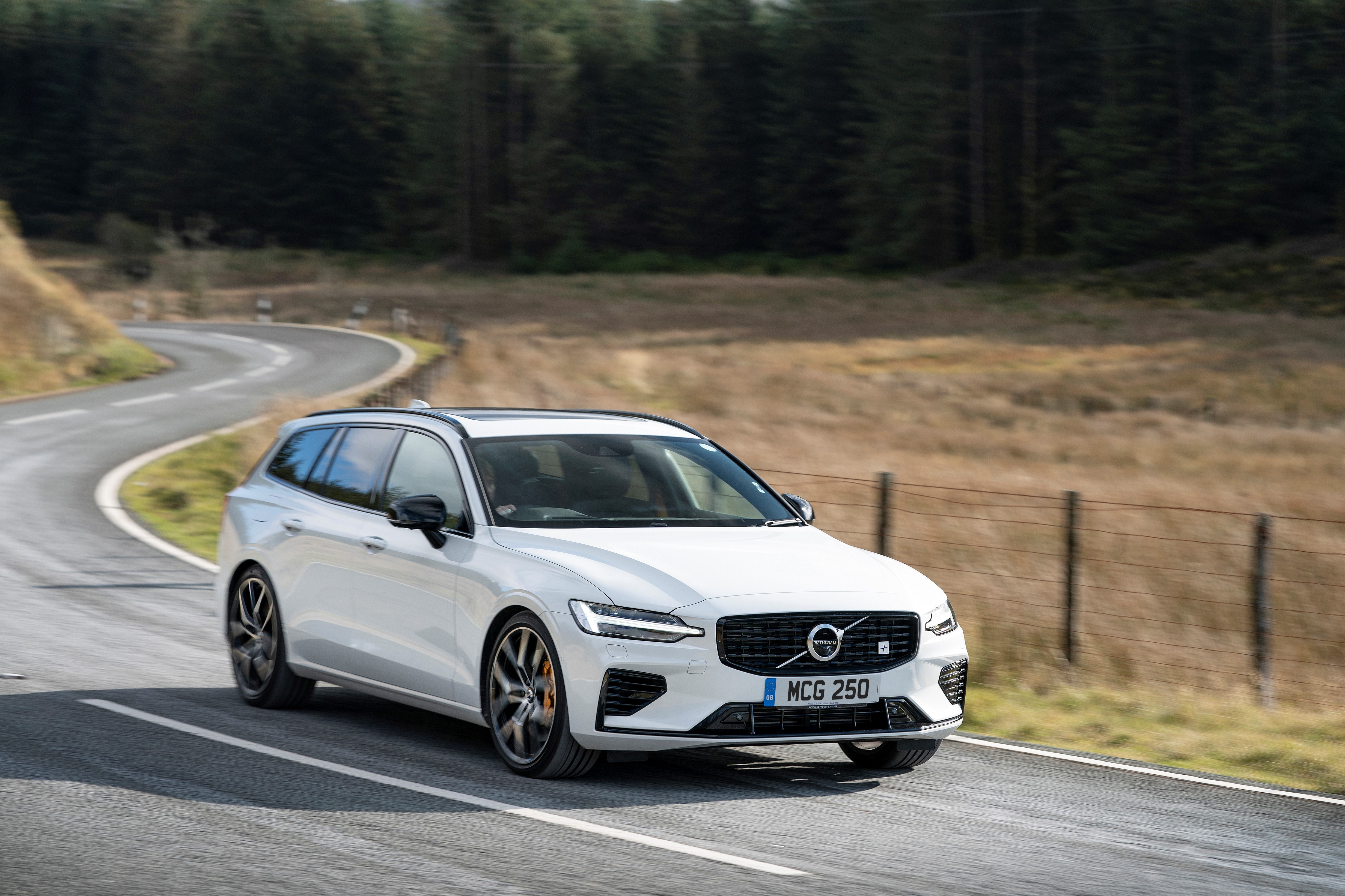 Redesigned front bumpers help the V60 to stand out