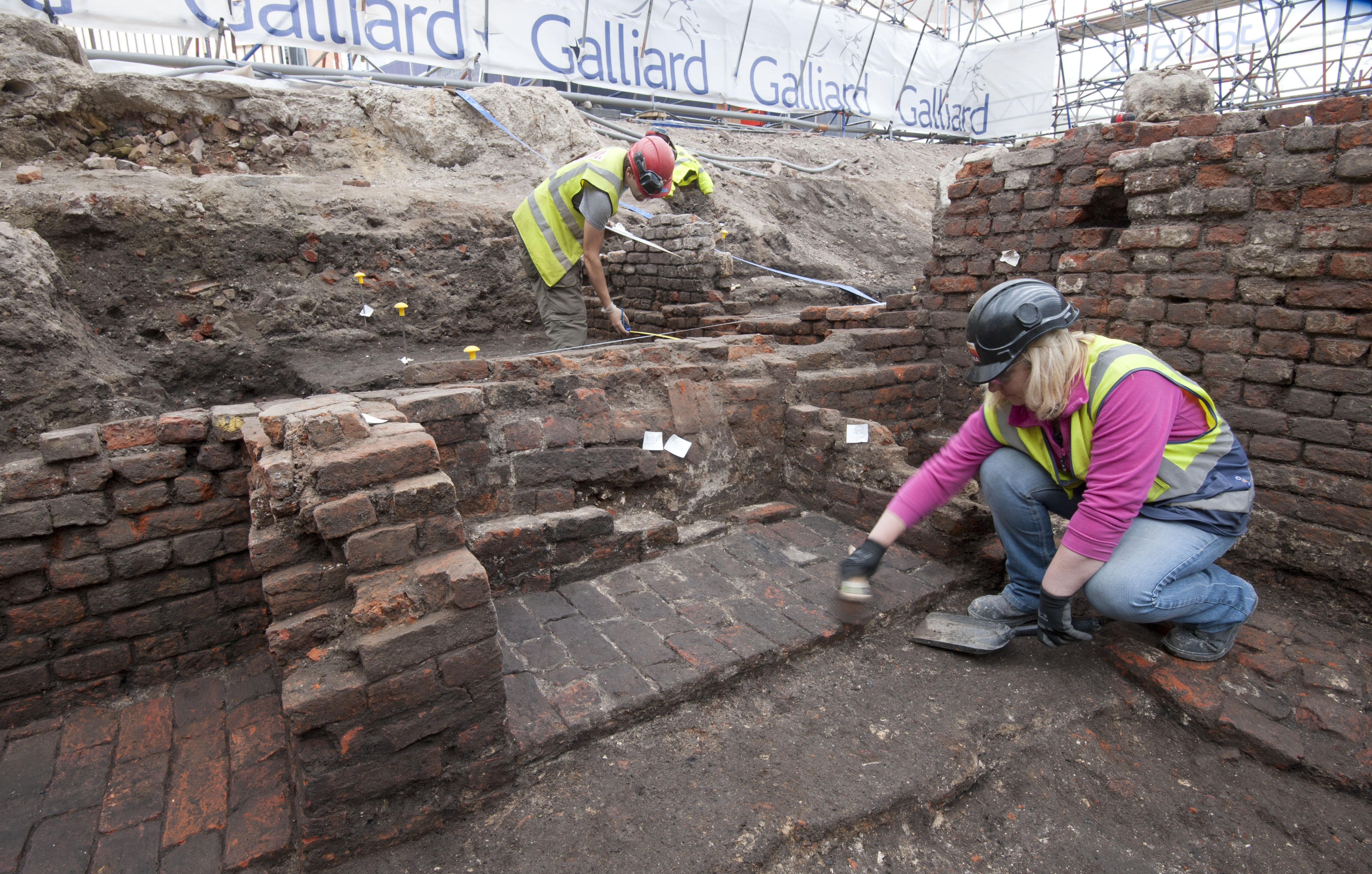 MOLA archaeologist Heather Knight excavated the Curtain in Shoreditch (MOLA/PA)