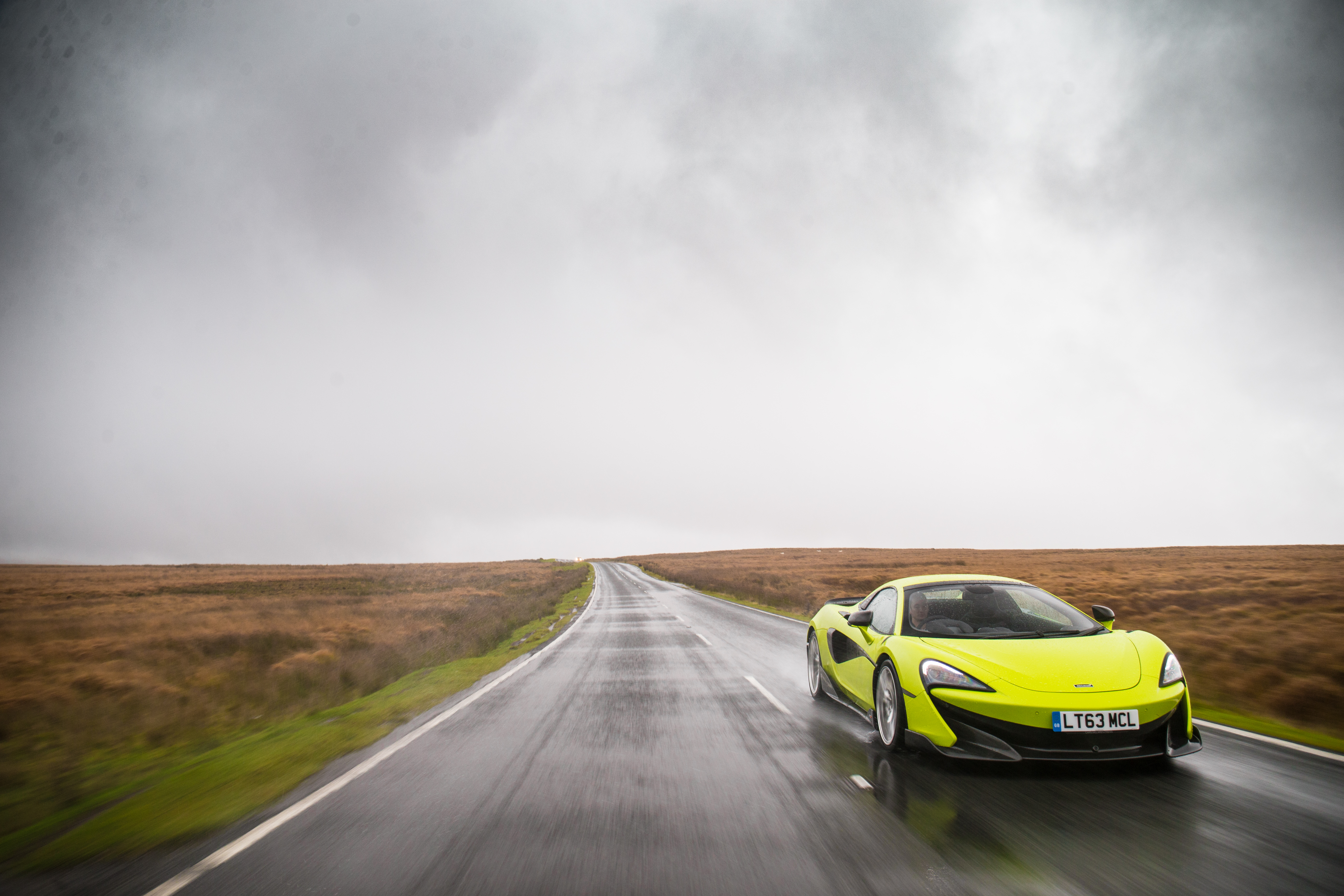 Slick tyres and wet roads make driving a challenge