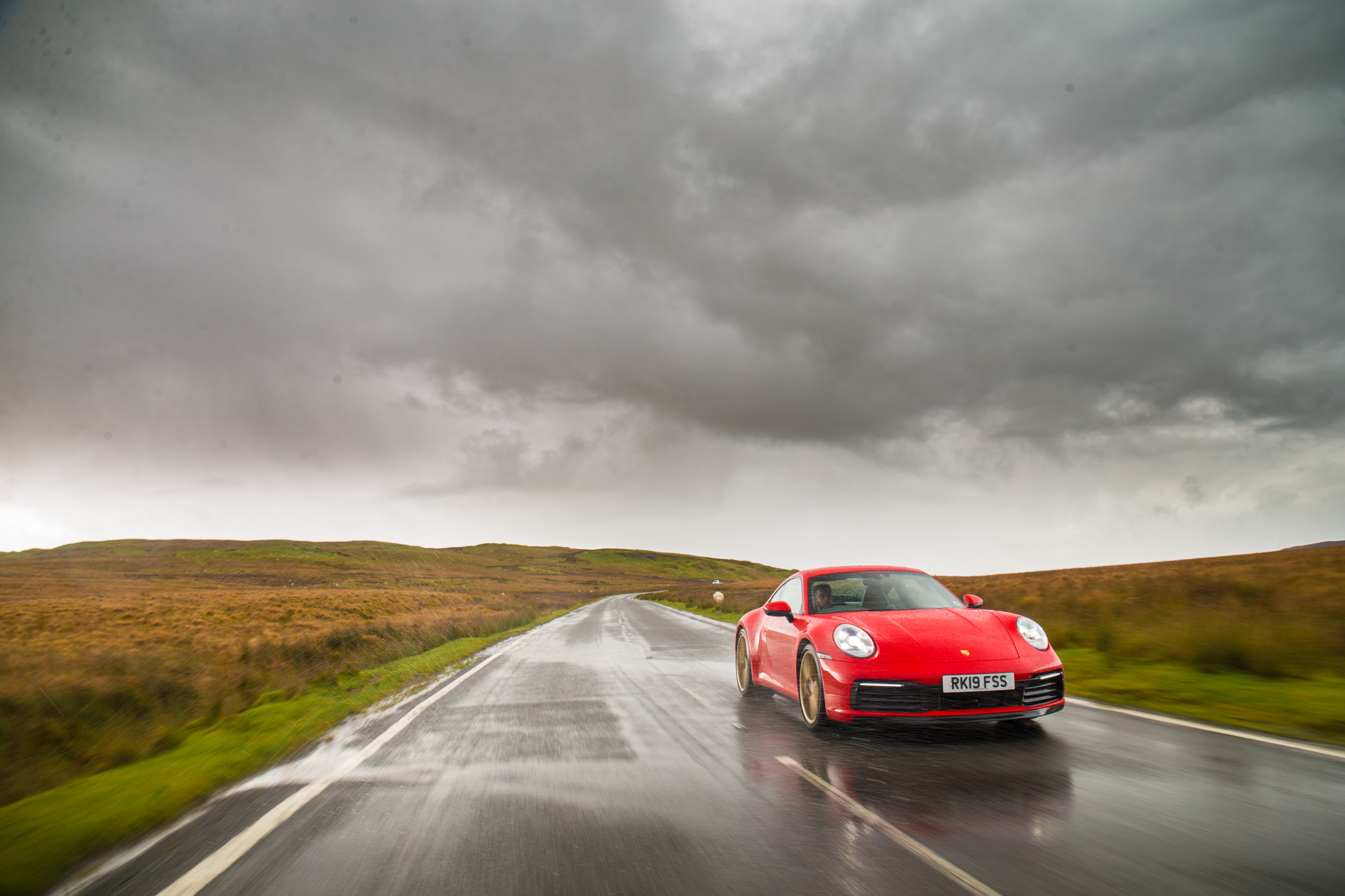 The 911 performed admirably in the wet