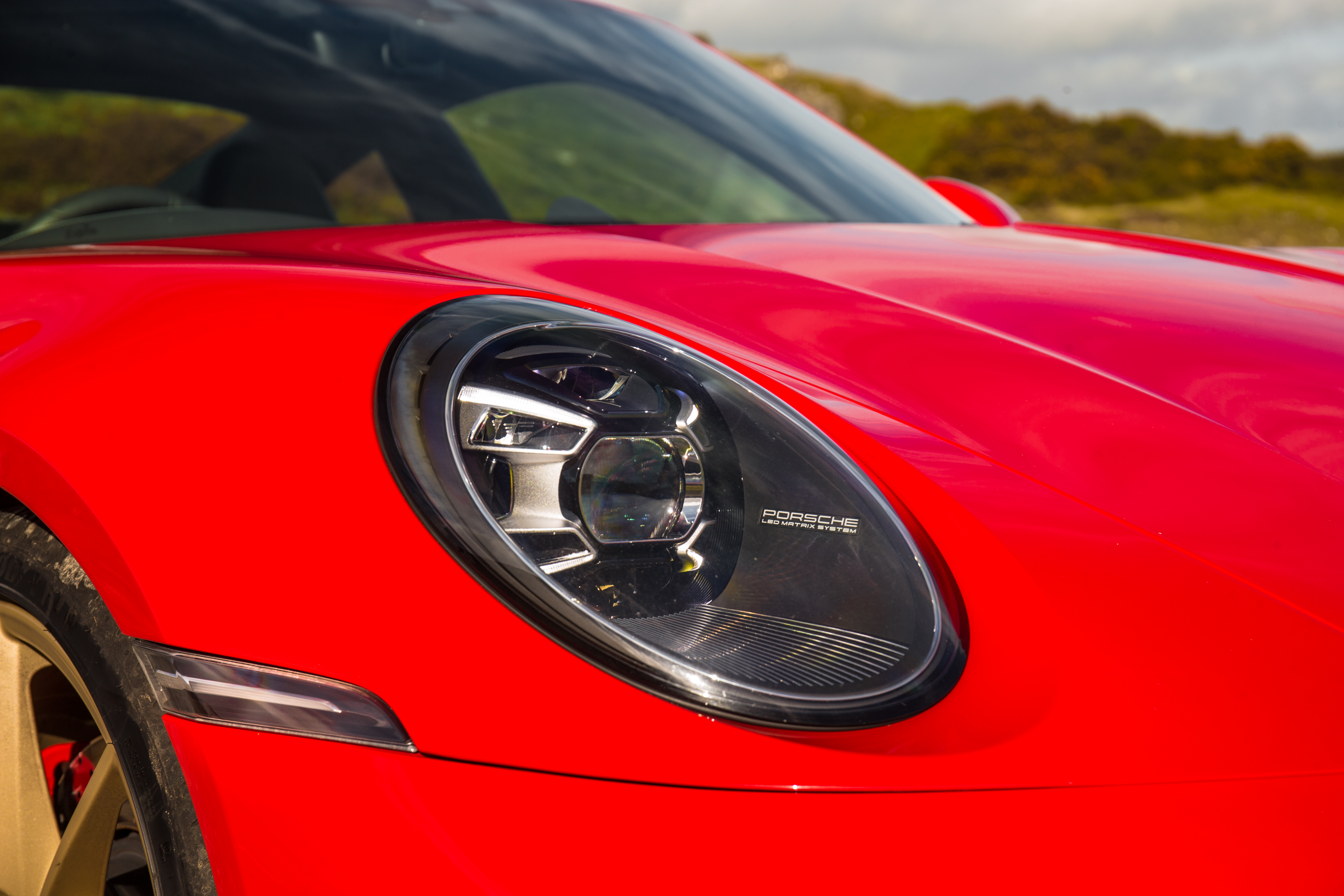 Oval headlights are a highlight on the new 911