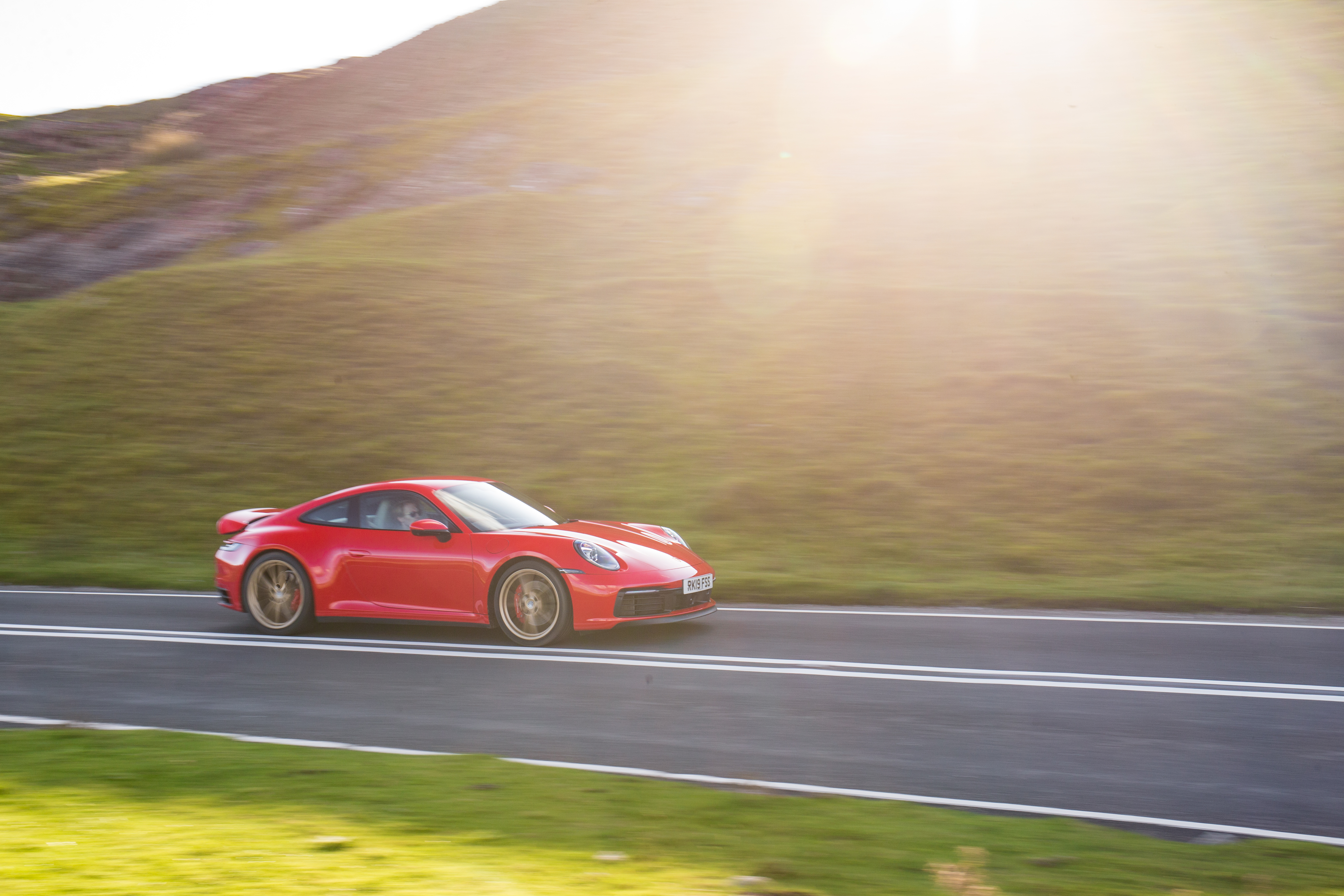 The Porsche comes alive on twisty roads