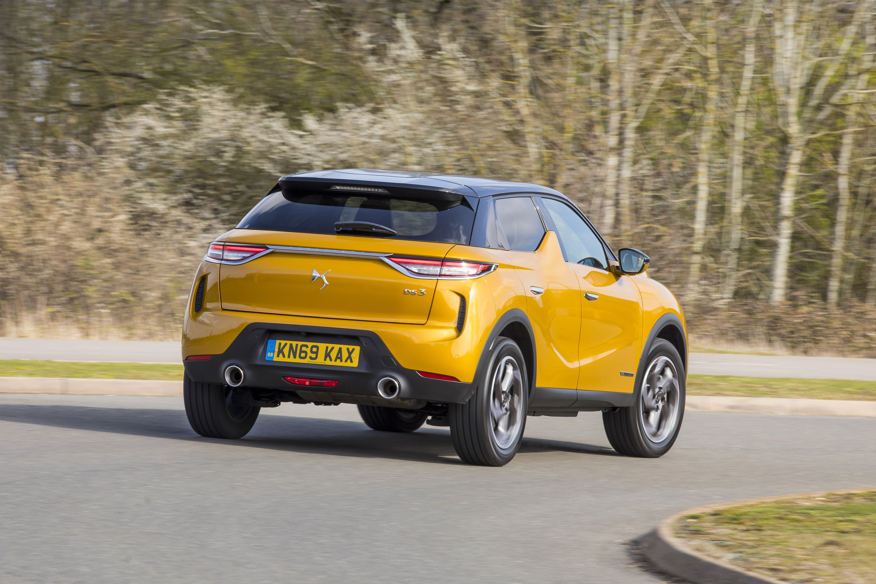 The car's rear design helps it to stand out from the crowd