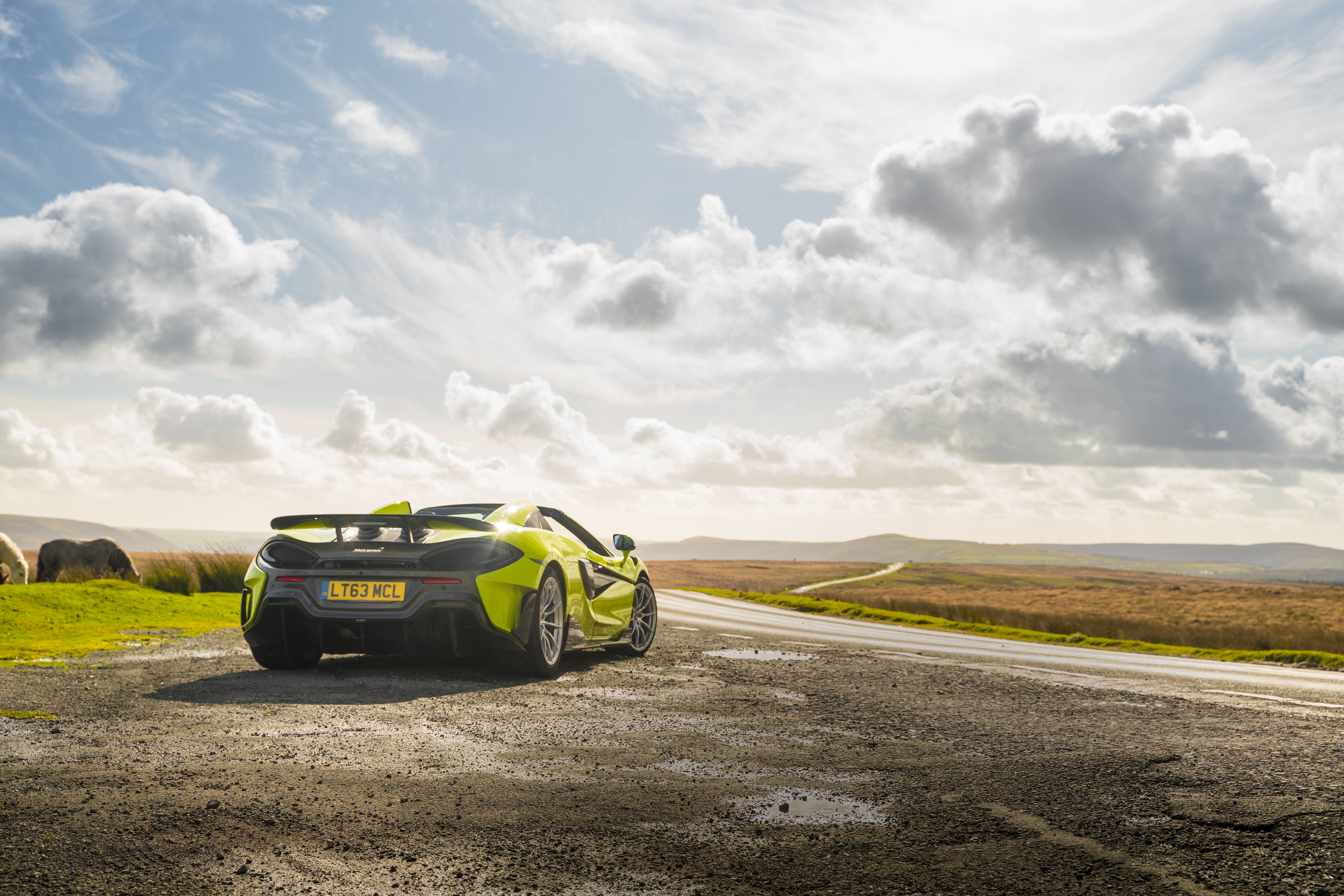 The 600LT's huge wing is hard to miss