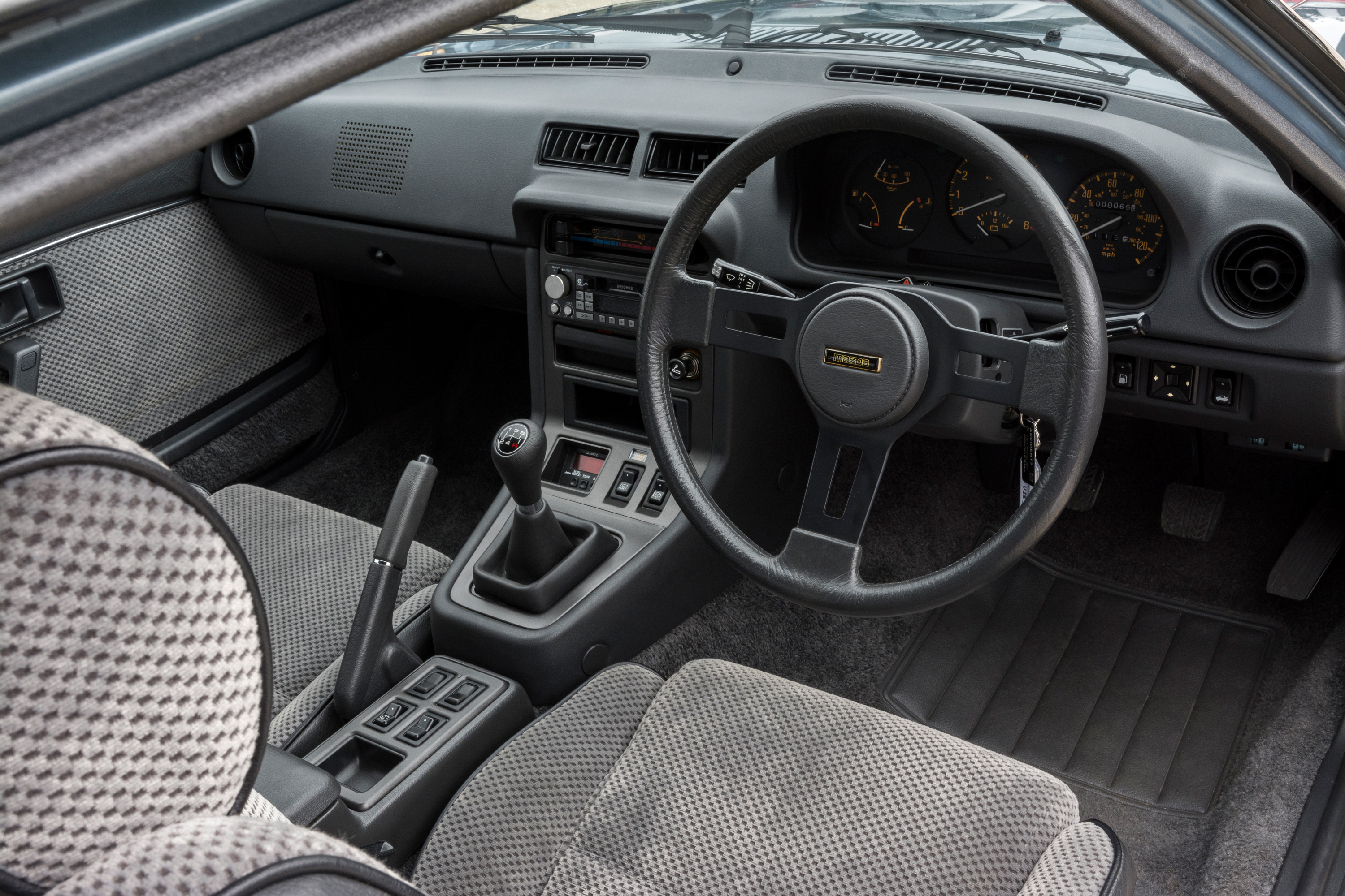 The interior is surprisingly comfortable given the compact size of the car