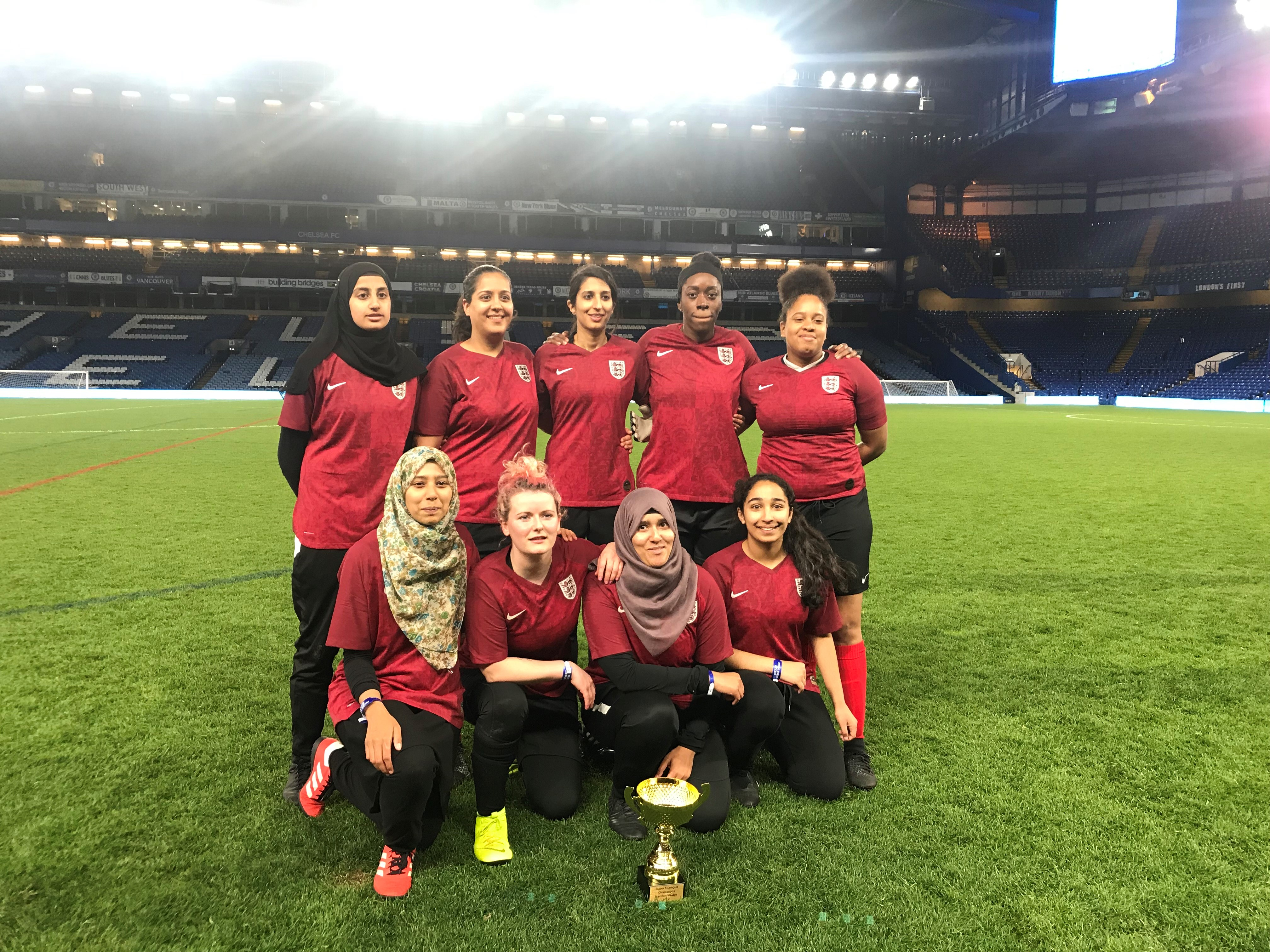The MSA & Frenford FC team were winners at a five-a-side event at Stamford Bridge