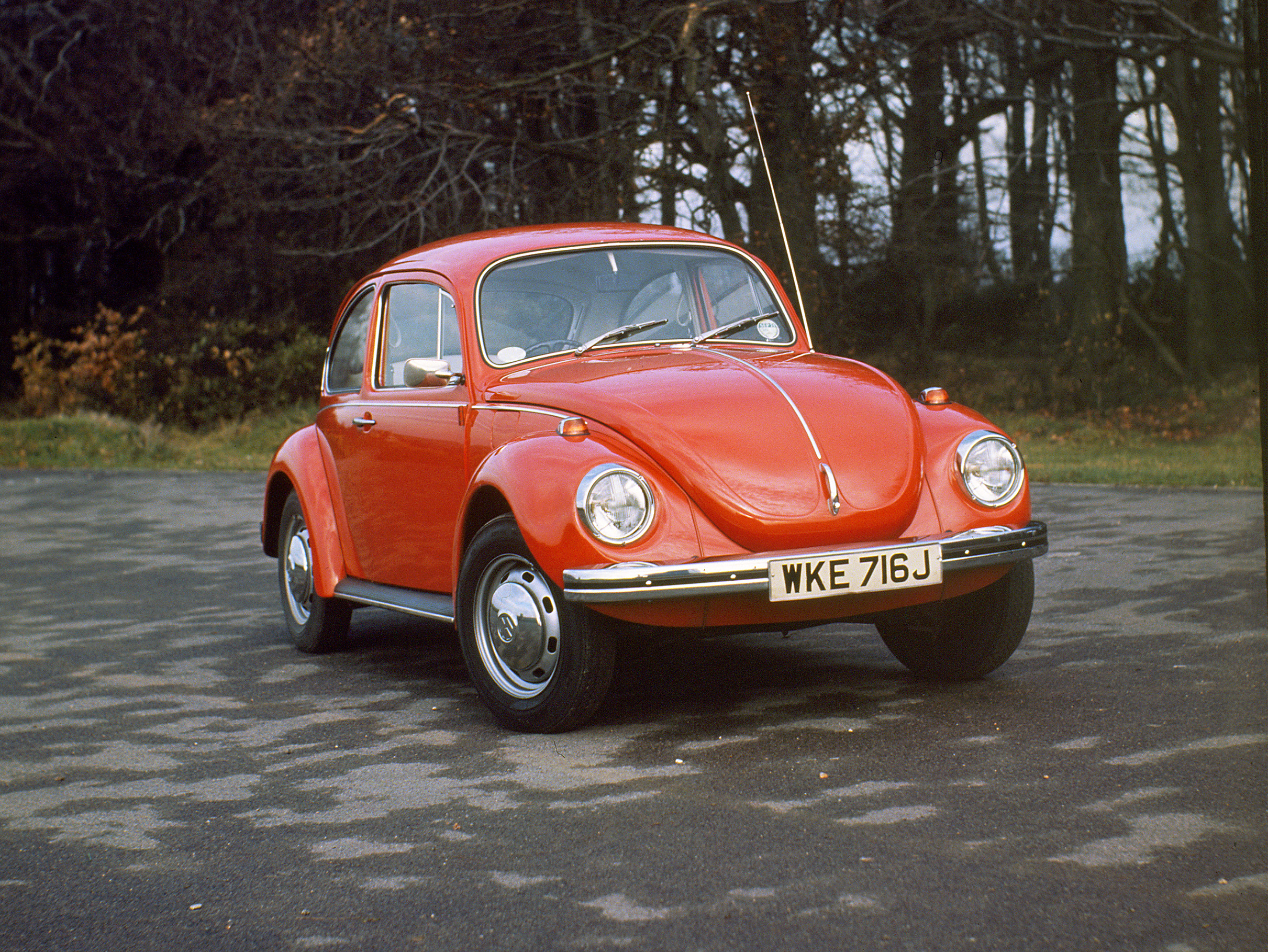 The Volkswagen Beetle was one of the first mass-production vehicles