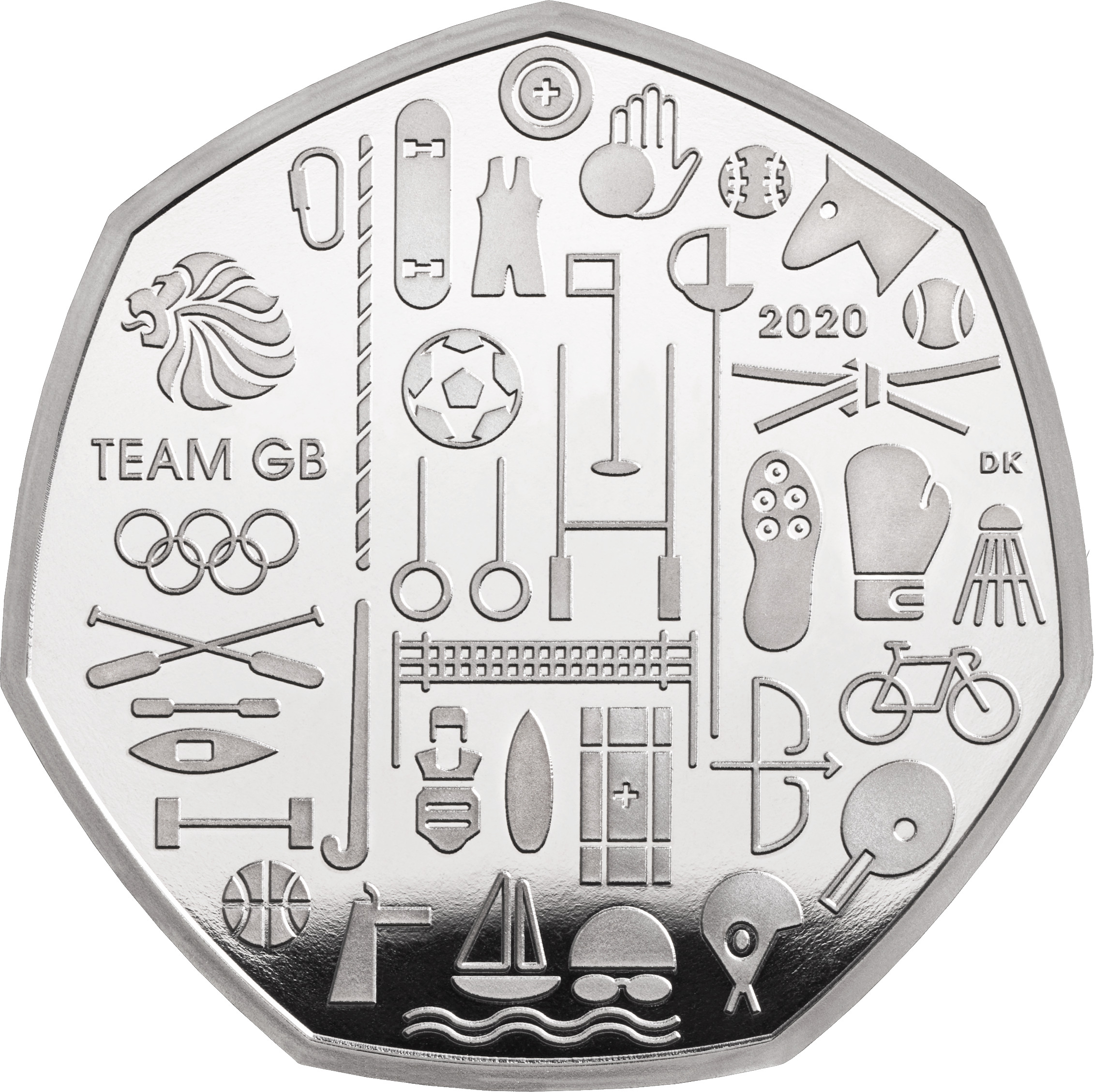The 50p coin for Team GB (The Royal Mint/PA Wire)