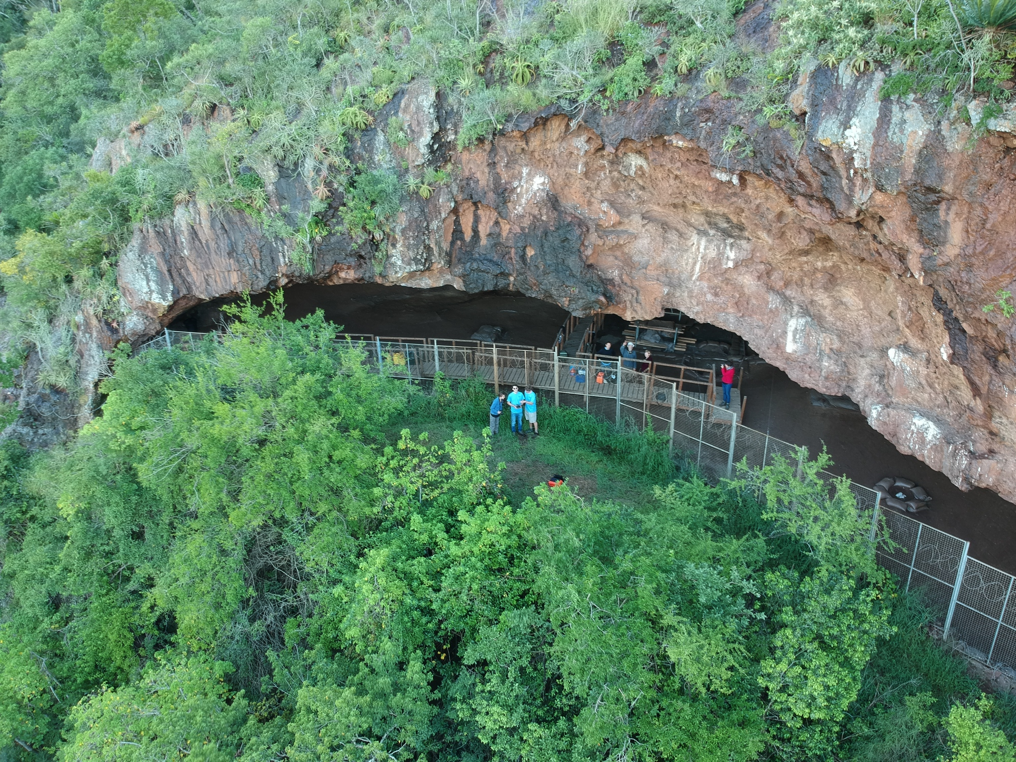 Entrance to the Border Cave in South Africa.