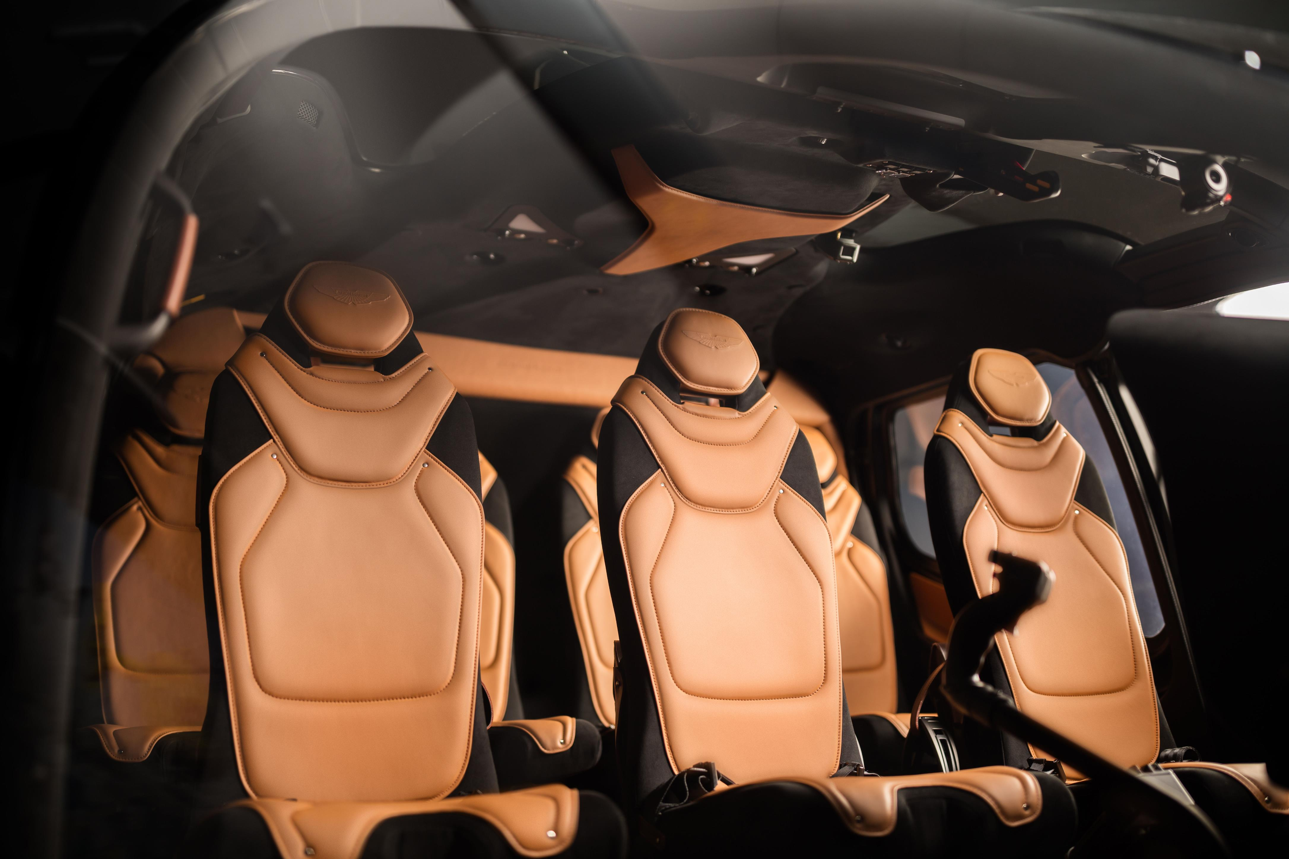 The seats have been trimmed in high-quality leather