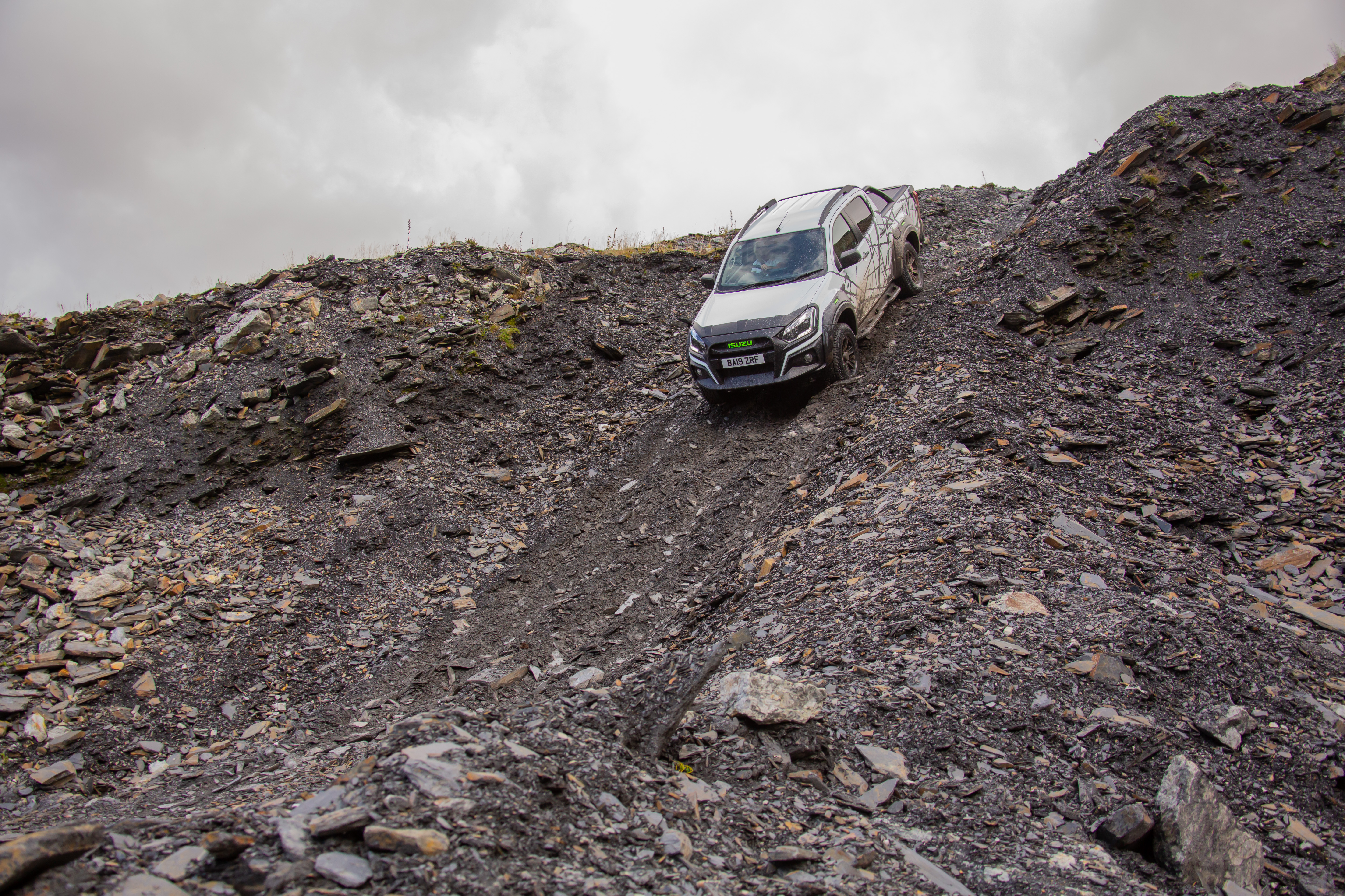 Steep inclines are no trouble in the D-Max