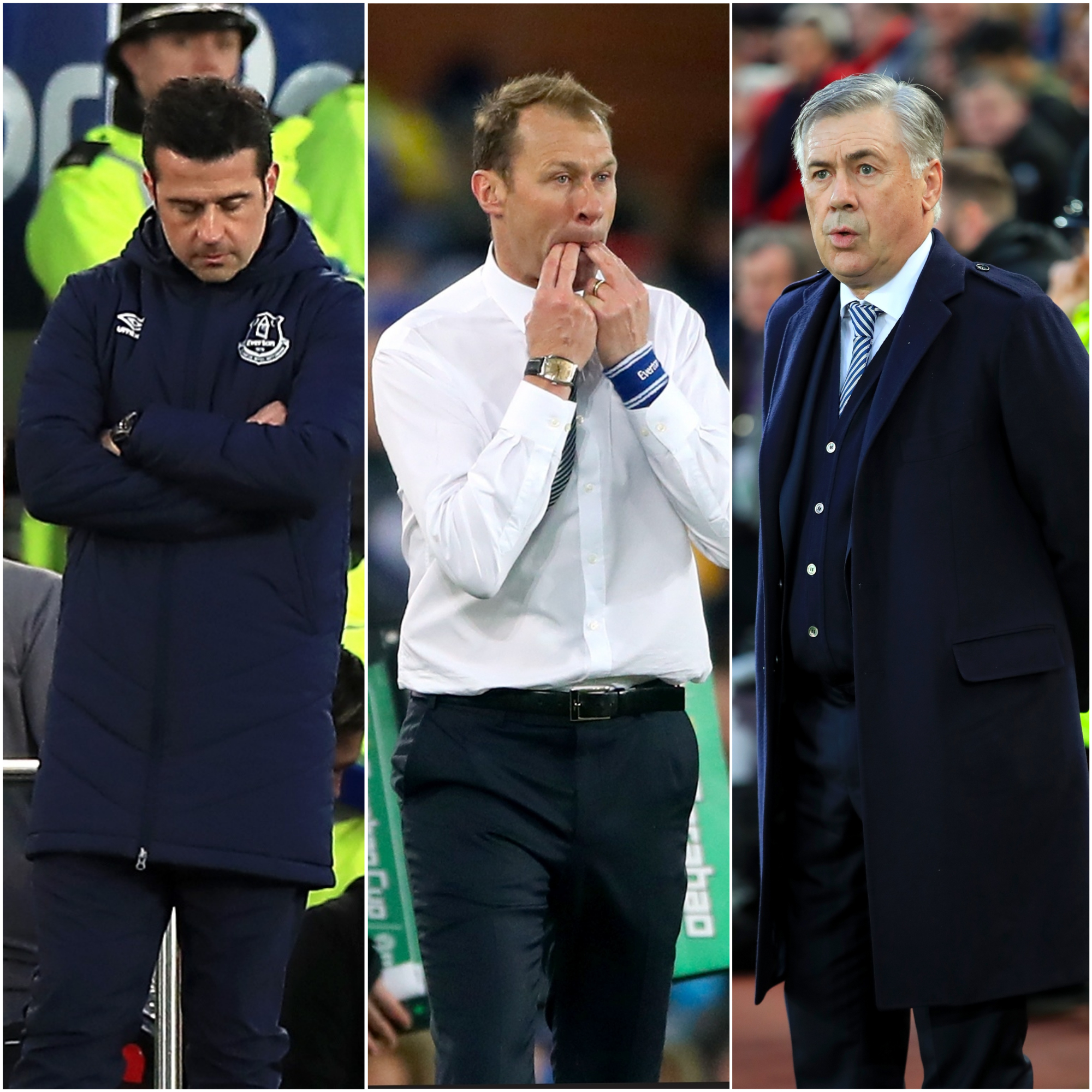 Everton have had three managers in the last month: Marco Silva, Duncan Ferguson and Carlo Ancelotti
