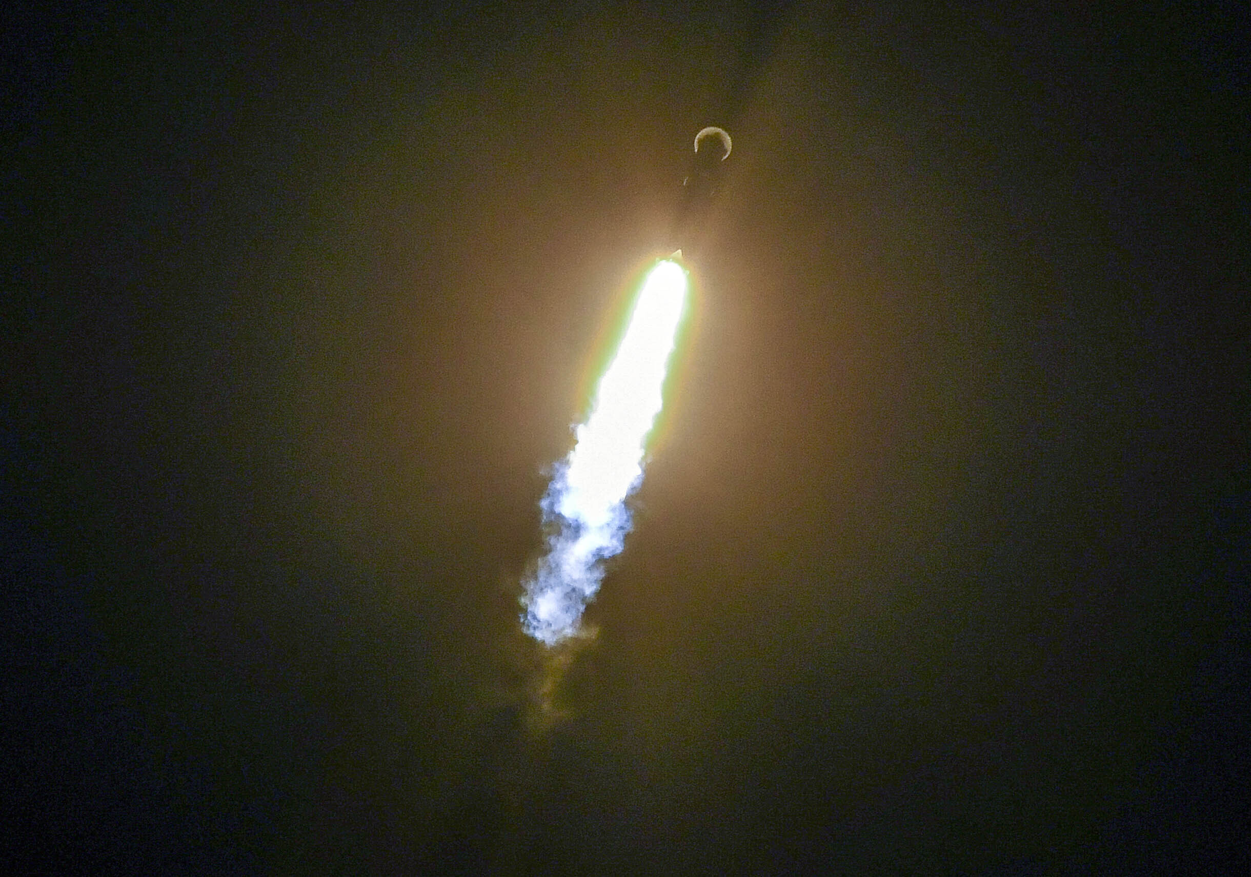 A SpaceX Falcon 9 rocket lifts off from Cape Canaveral Air Force Station, Florida