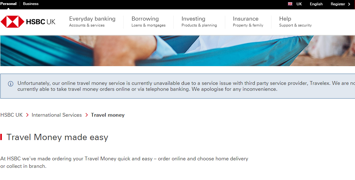 HSBC website