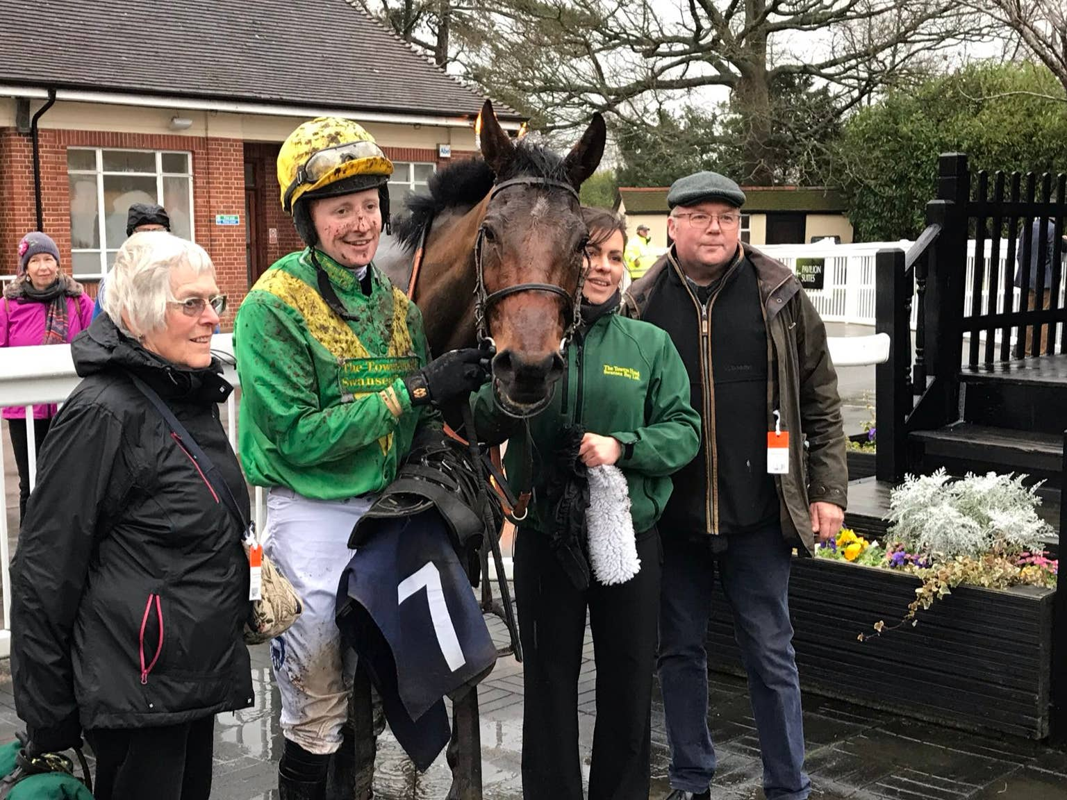 Stan Sheppard and Kestrel Valley after their win at Lingfield (Graham Clark/PA)