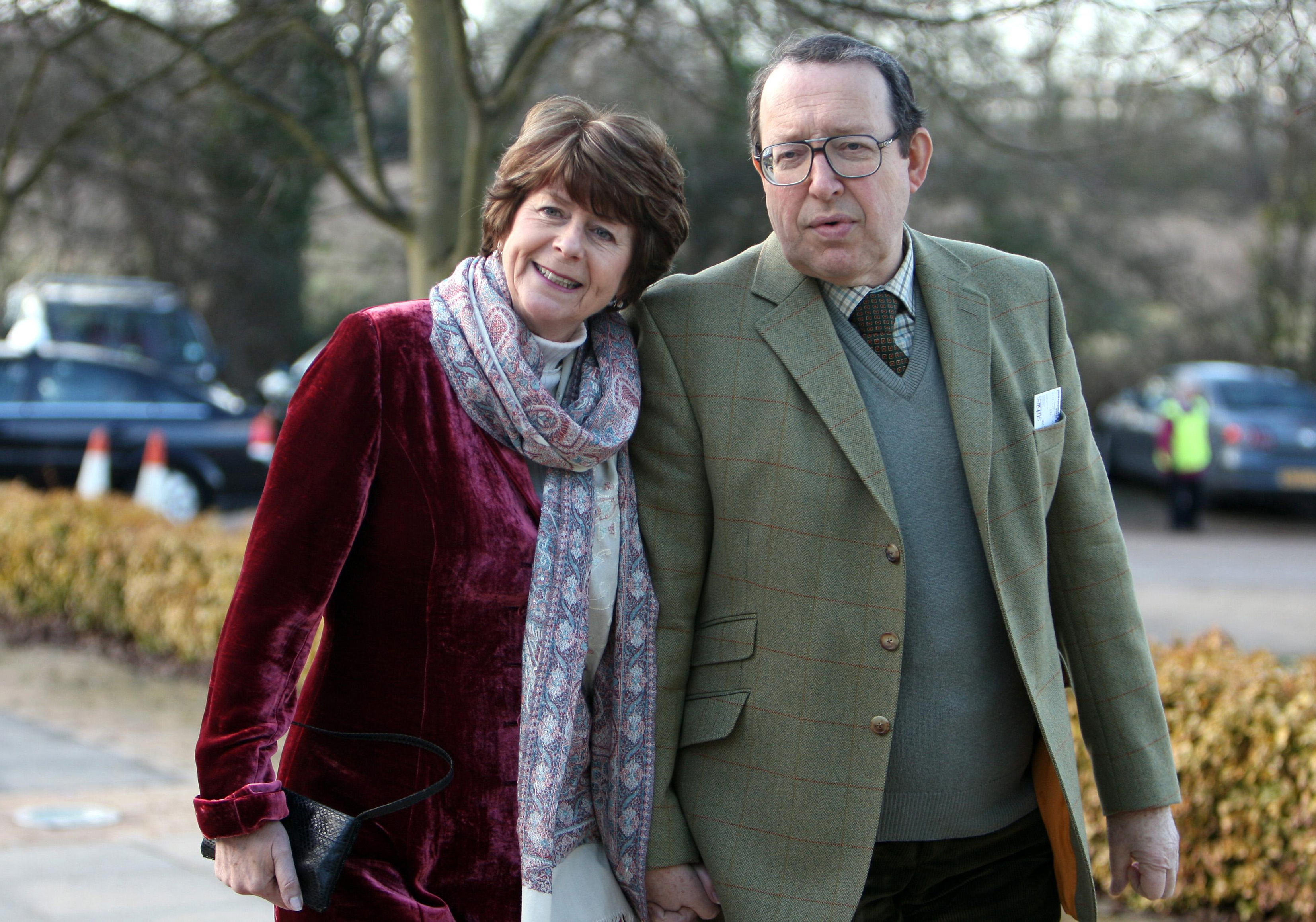 Pam Ayres and her husband Dudley Russell (Chris Radburn/PA)