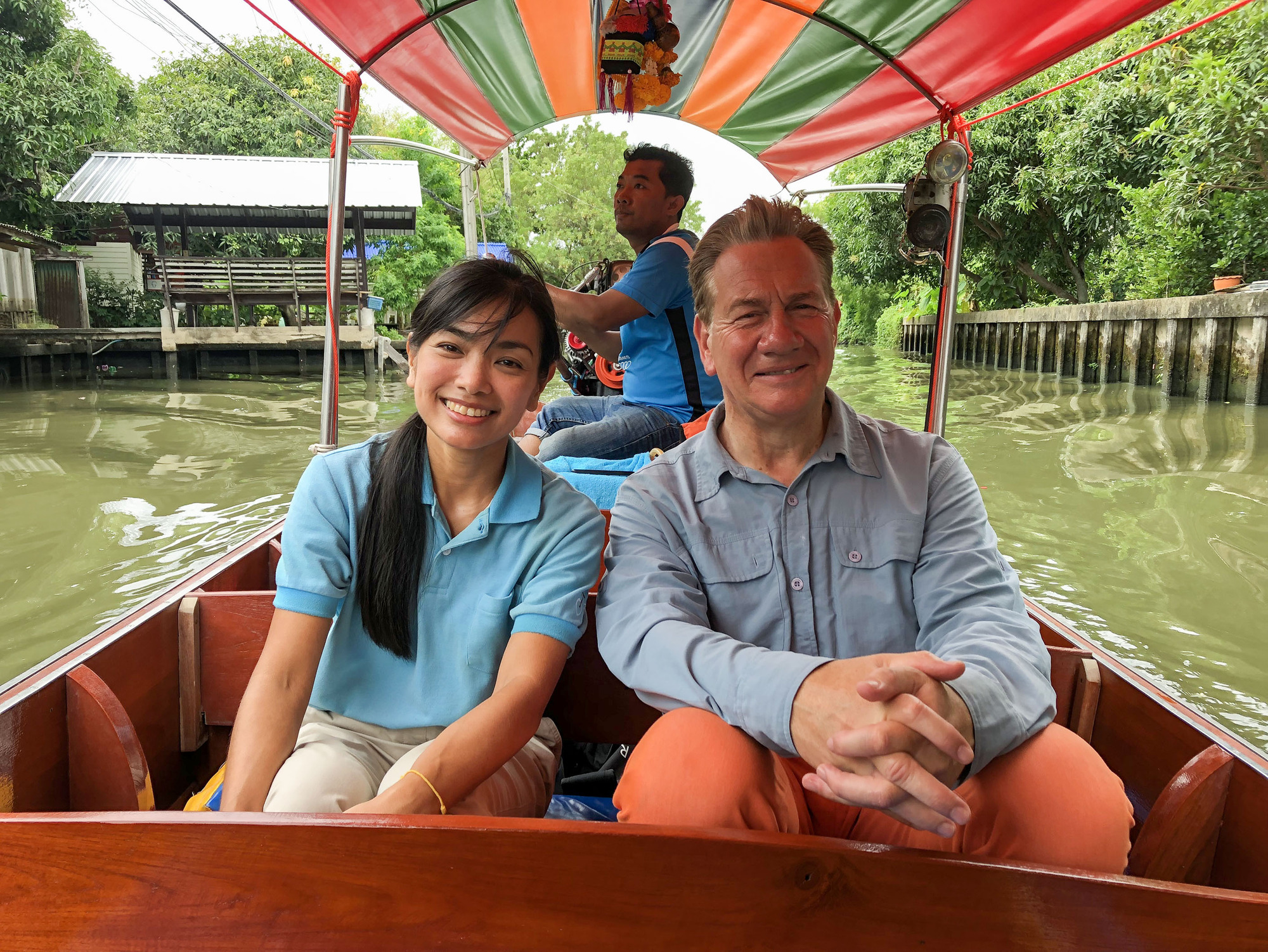 Great Asian Railway Journeys (Michael Portillo with his guide, Peach, in Bangkok