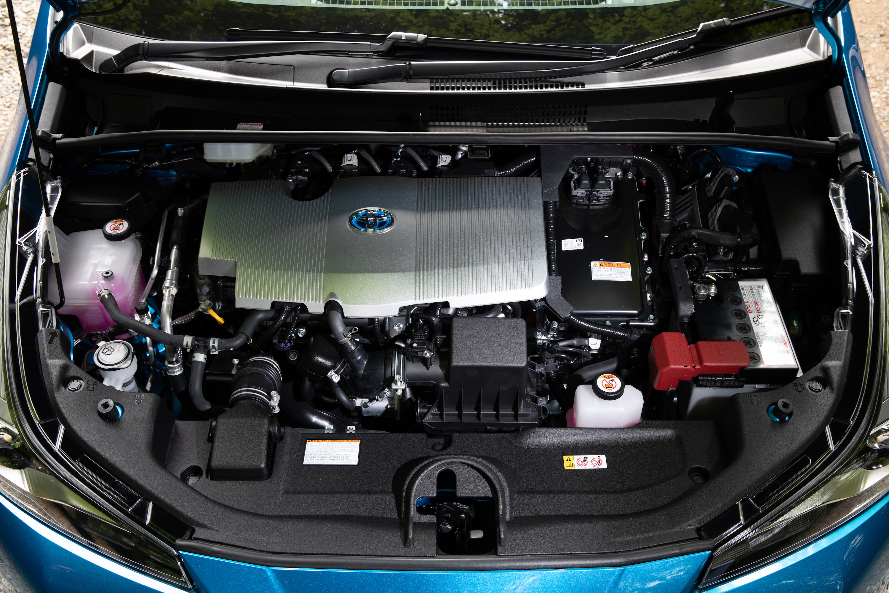 A 1.8-litre petrol engine is linked to electric motors