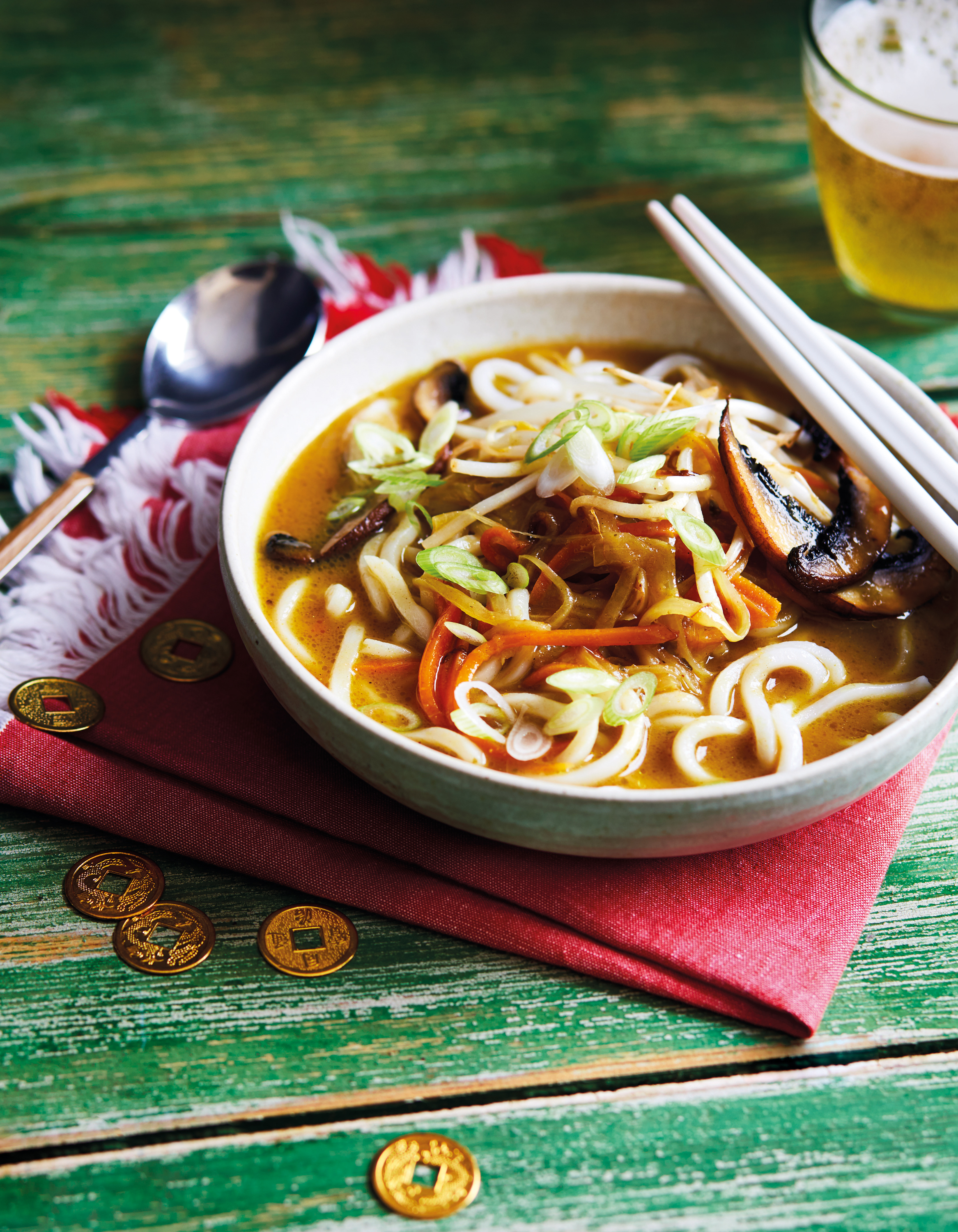 Udon noodle curry soup from The Veggie Chinese Takeaway Cookbook by Kwoklyn Wan (Quadrille/Sam Folan/PA)