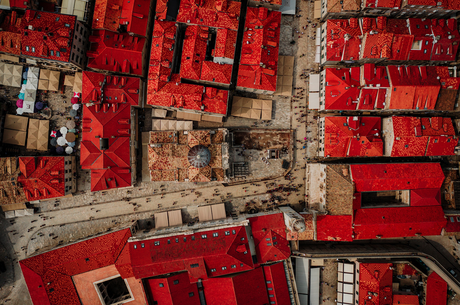 Red roofs in Dubrovnik