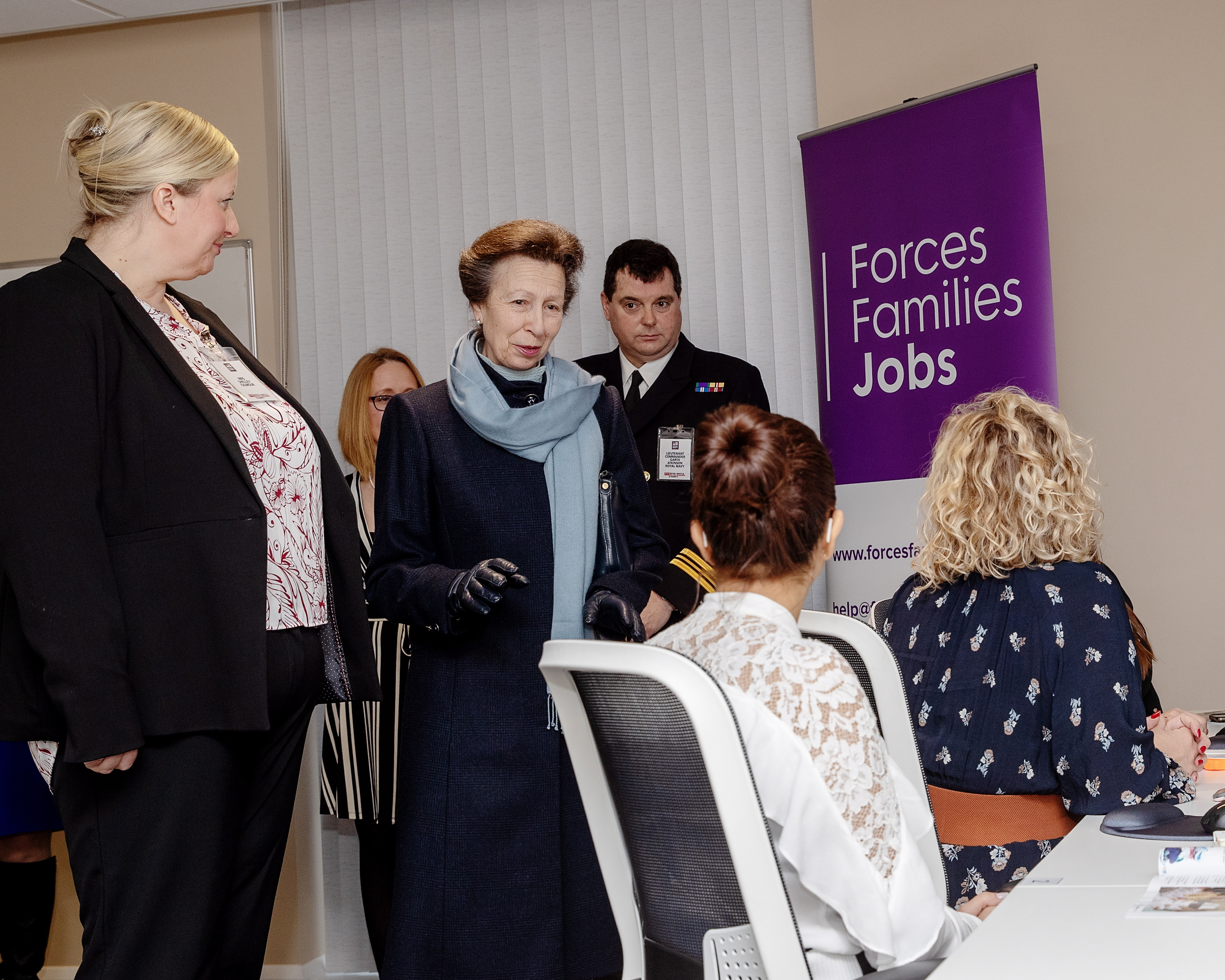 Princess Royal meets naval spouses