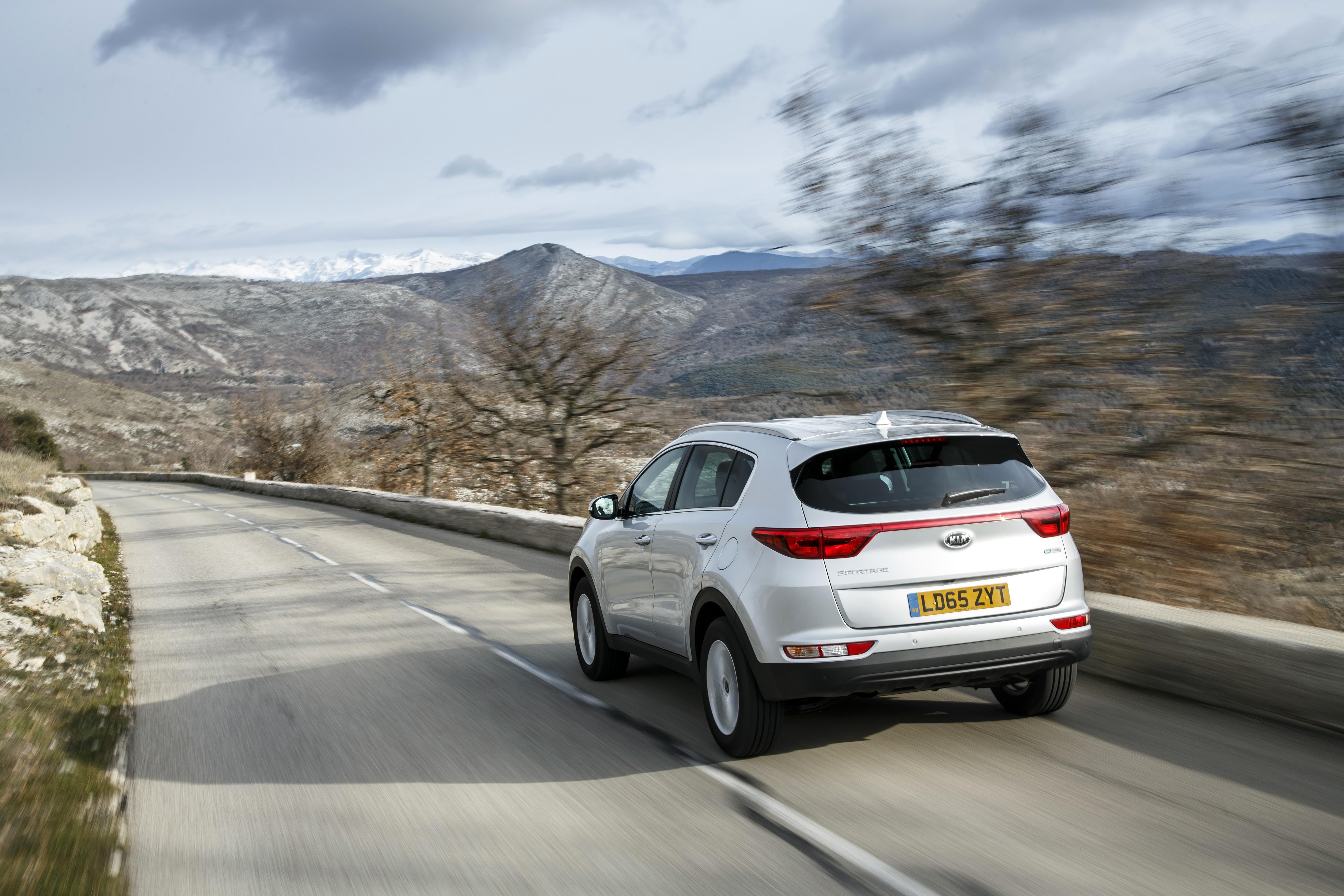 Kia Sportage driving in Europe