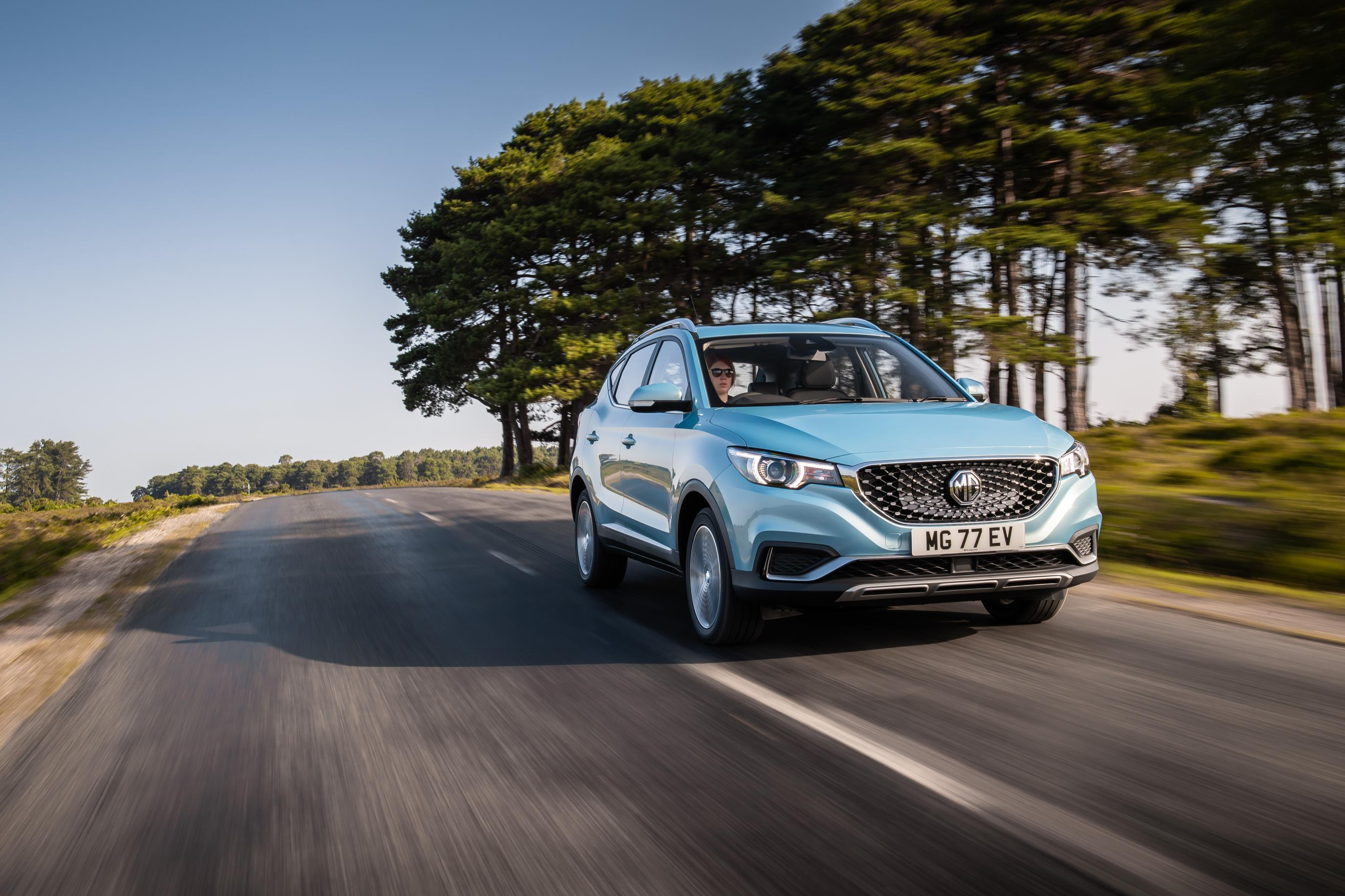 The MG ZS EV out on the road