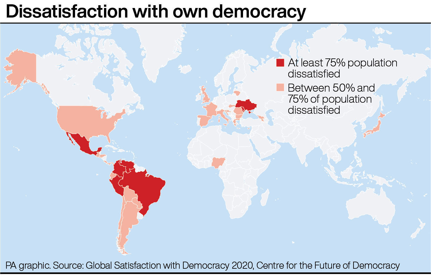 Dissatisfaction with own democracy