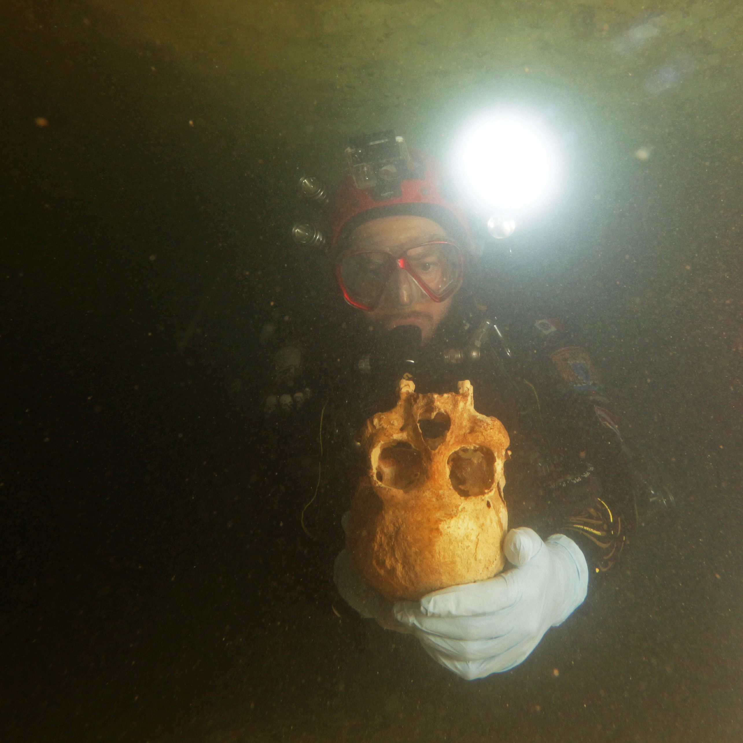 The Chan Hol 3 skeleton was excavated from the Chan Hol underwater cave.