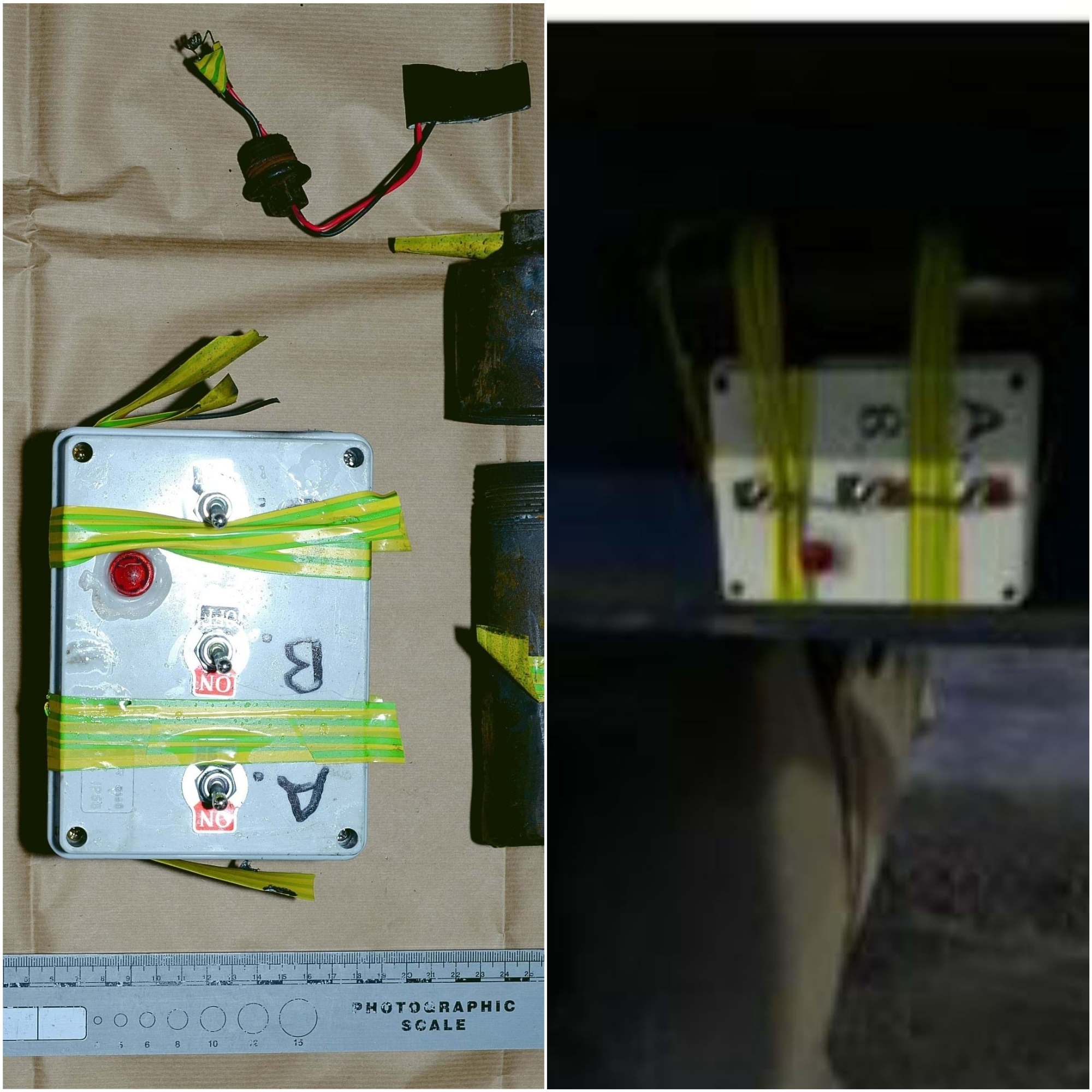 The device was found on a lorry