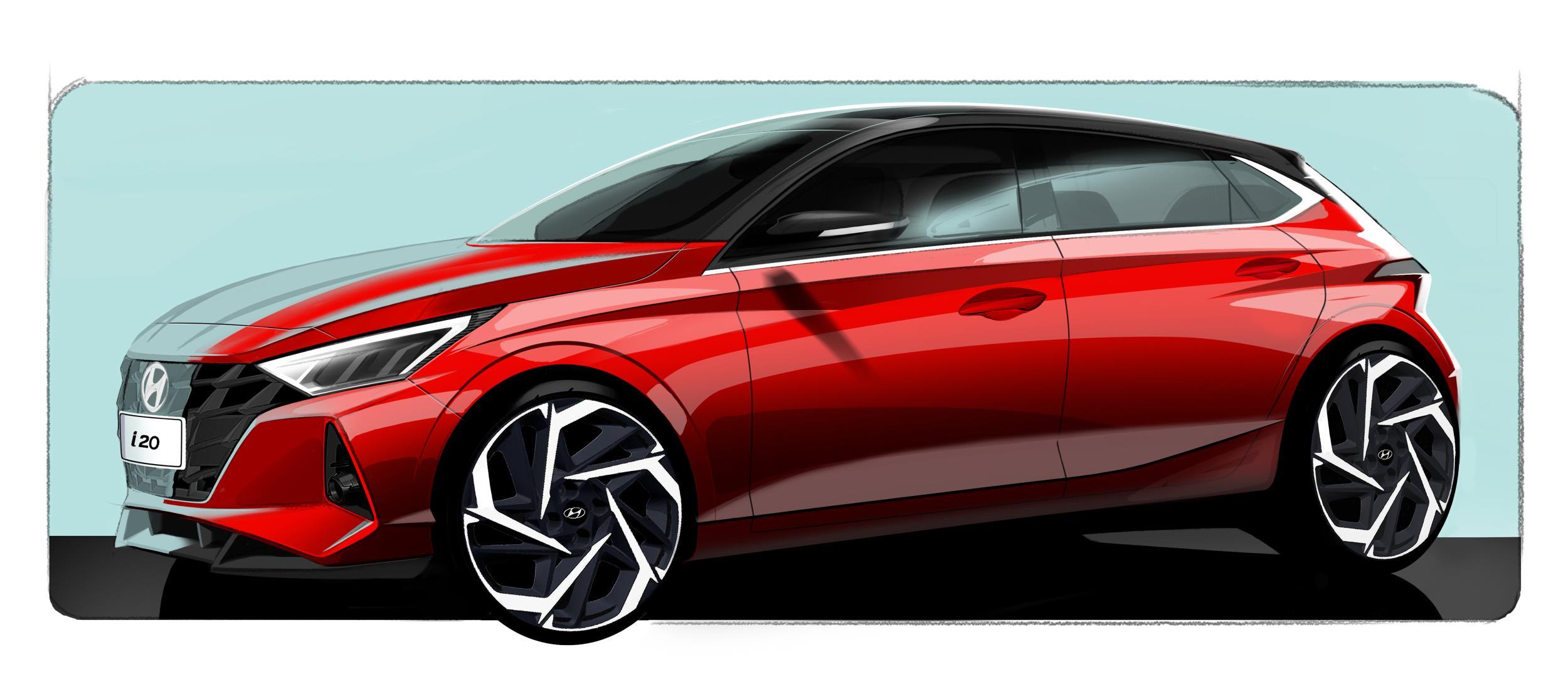Hyundai i20 teaser sketch
