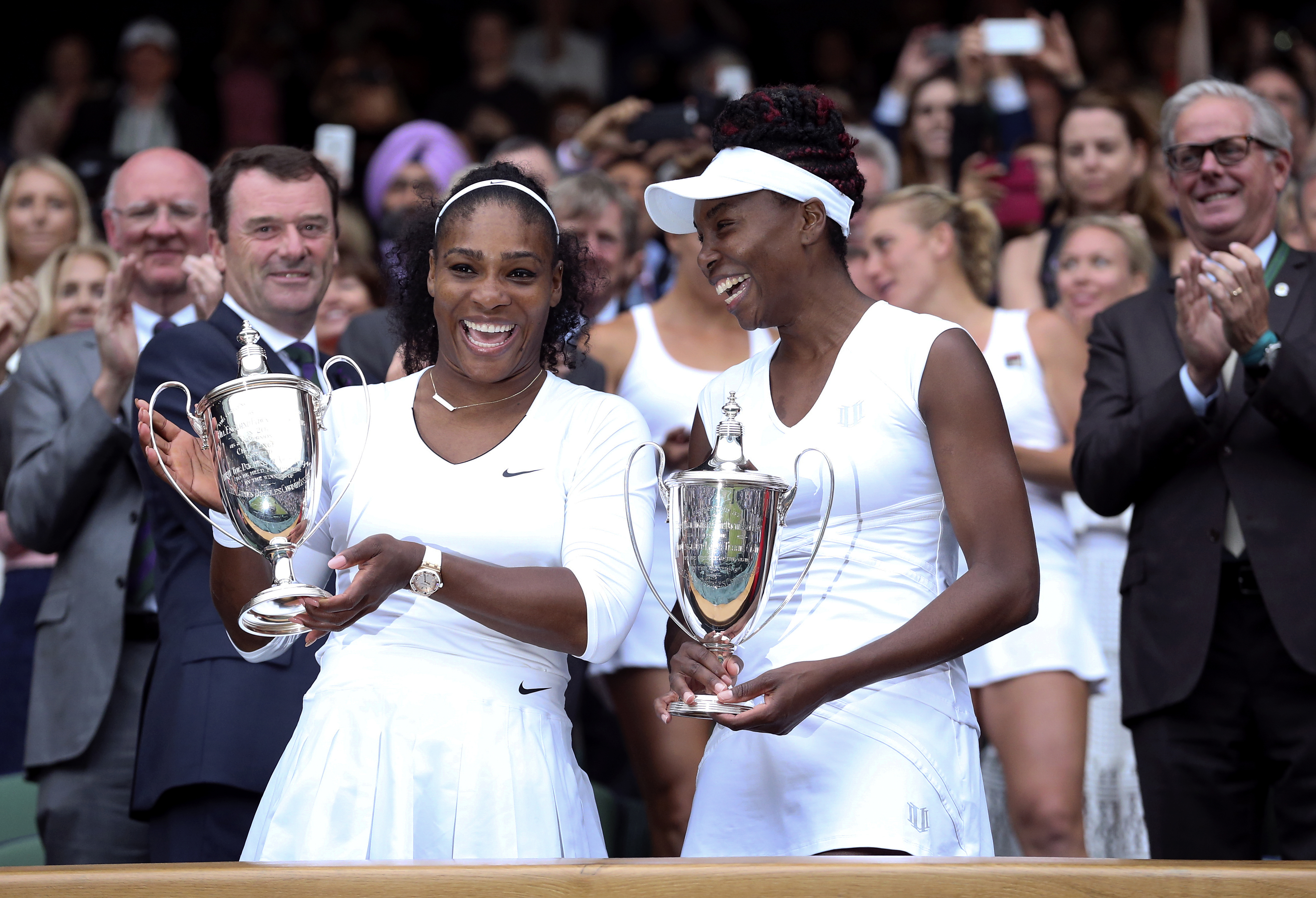 Serena and Venus Williams both have plant-based diets (Steve Parsons/PA)