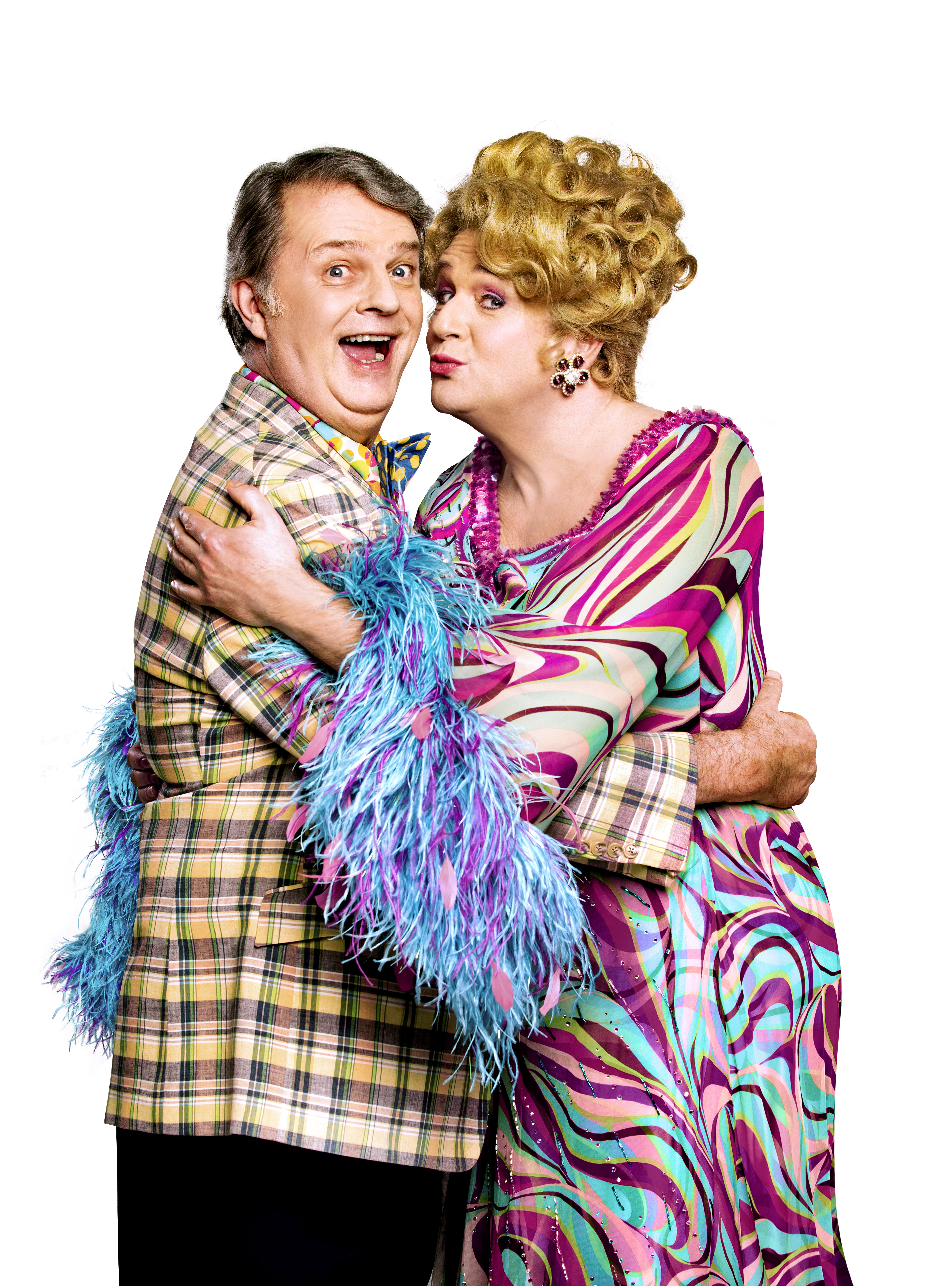 Paul Merton and Michael Ball in Hairspray The Musical
