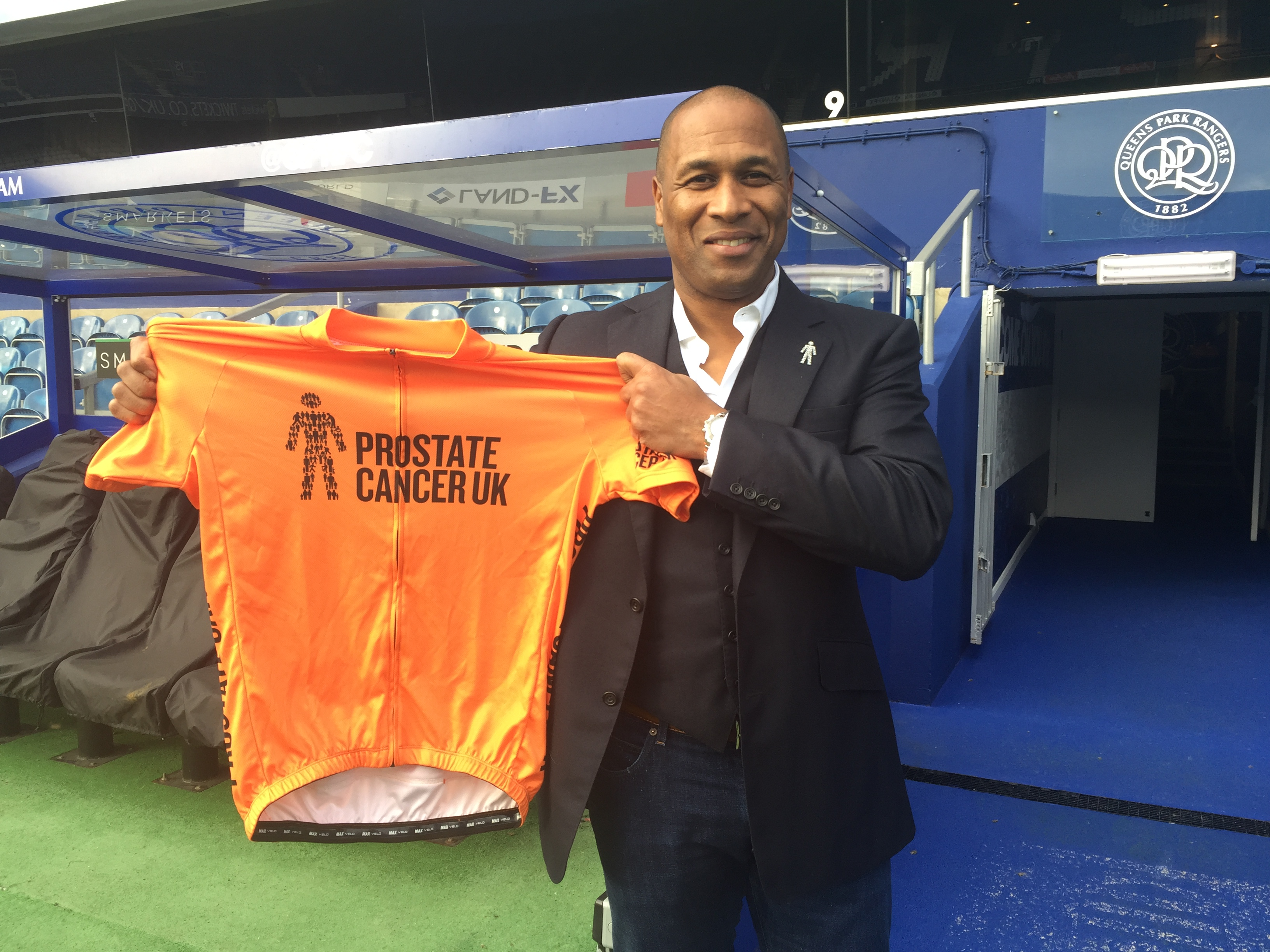 QPR director of football Les Ferdinand is an ambassador for Prostate Cancer UK