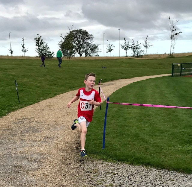 Louise Blizzard's nine-year-old son Alfie is also a talented runner (Family handout/PA)