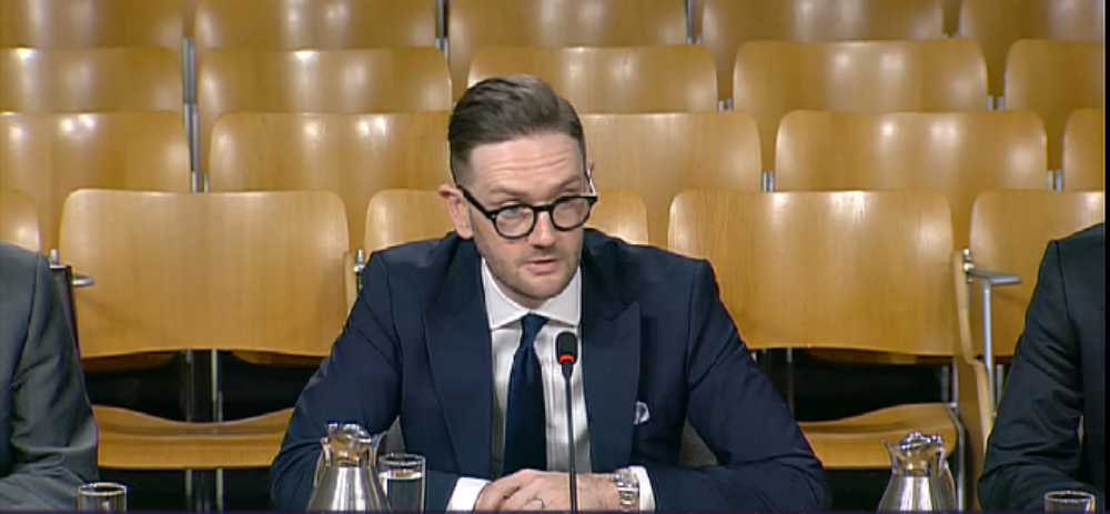 Chris Stark, chief executive of Committee on Climate Change at Holyrood committee